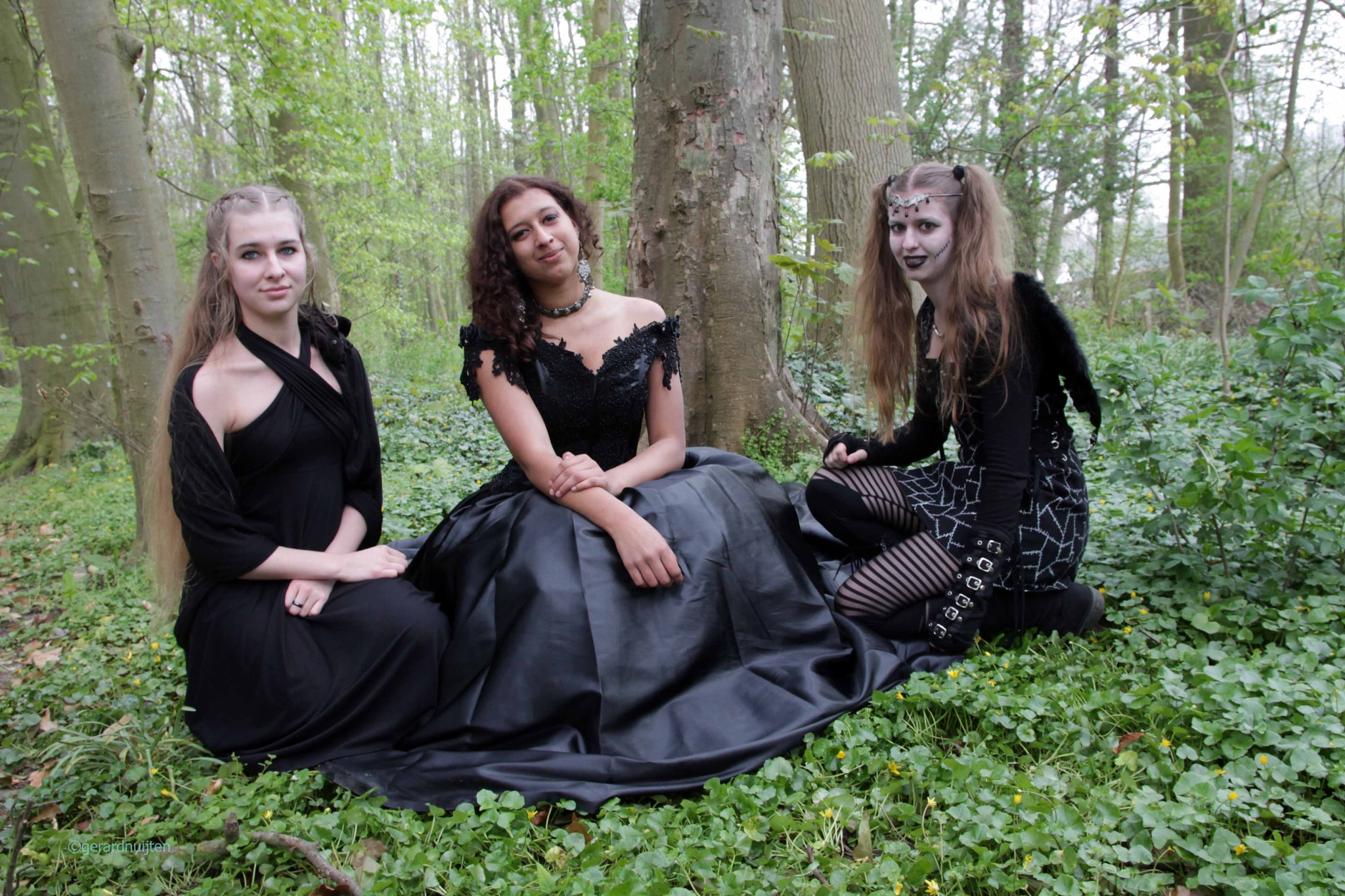 ladies in black . by Gerard Nuijten