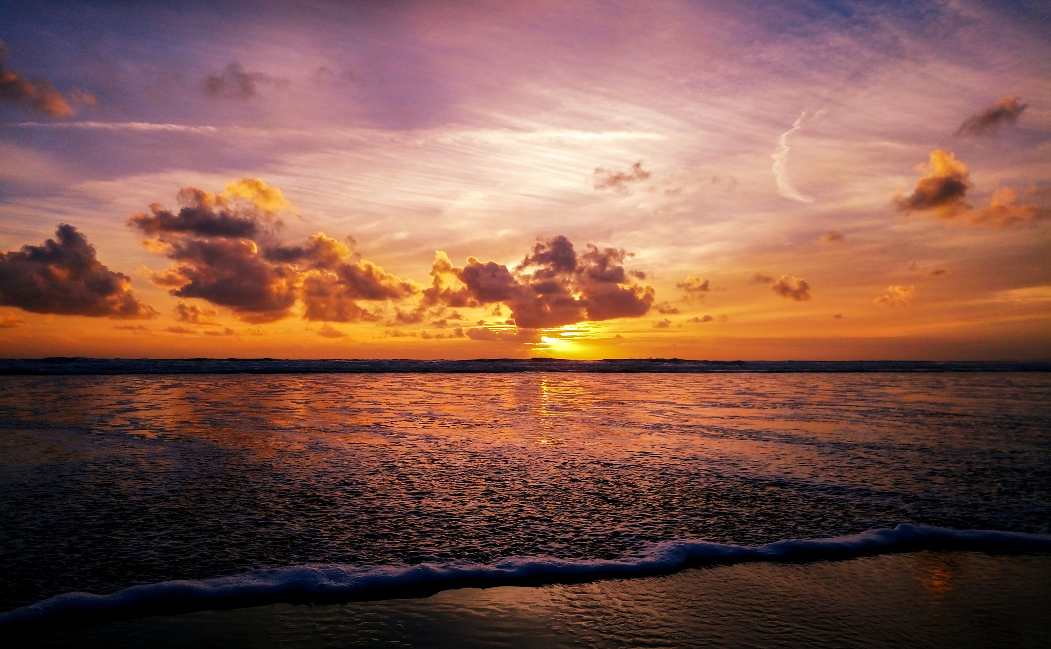 Llangennith sunset by Richard Poole