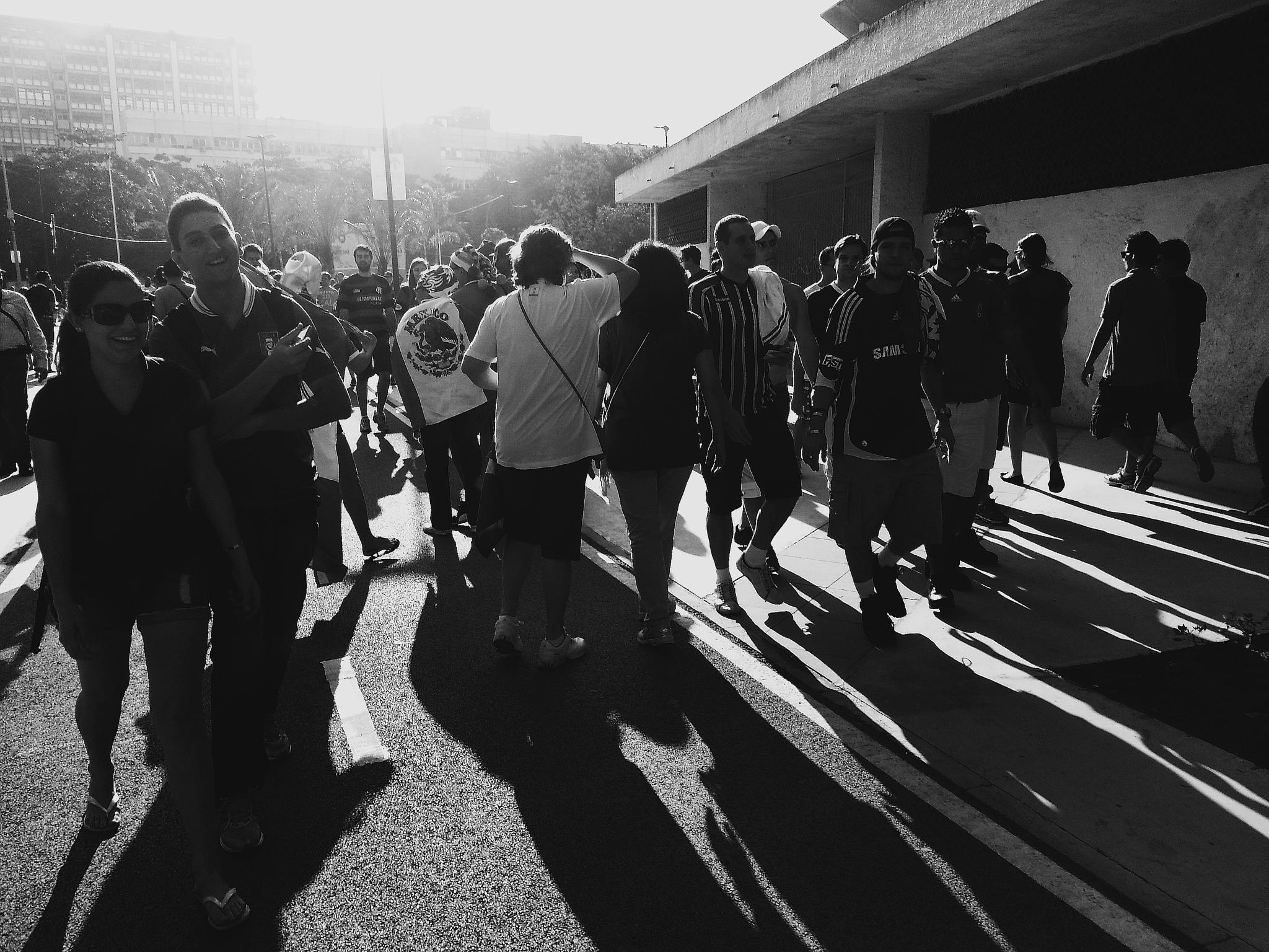 In front of the Stadium by Honorio Carlos Pereira Braga
