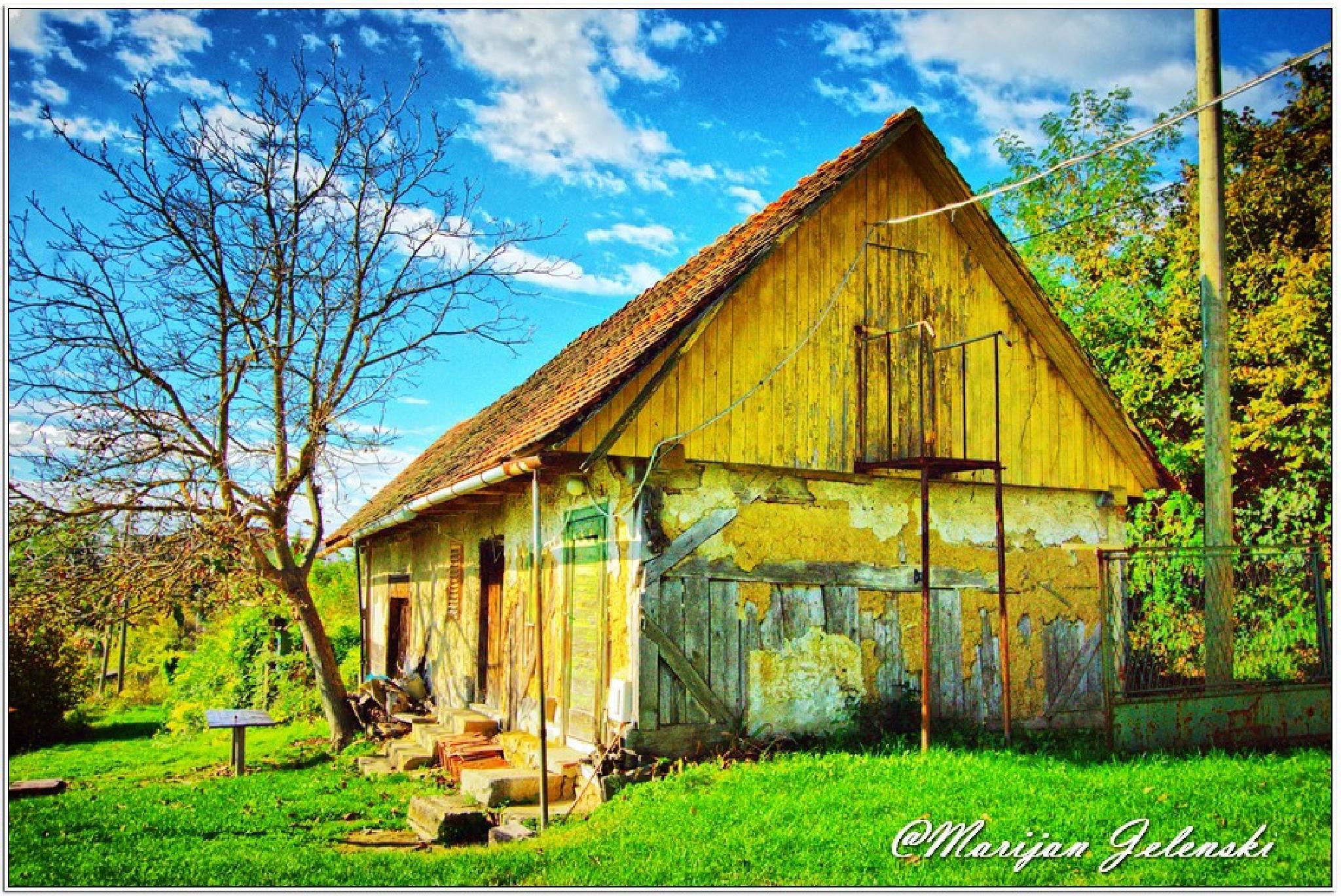 OLd house by Marijan Jelenski