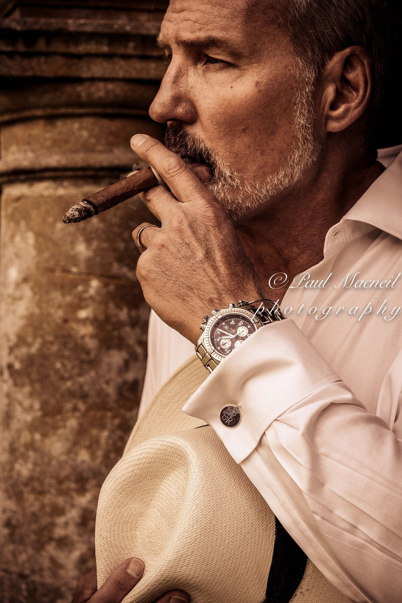 man with cigar by Paulomac