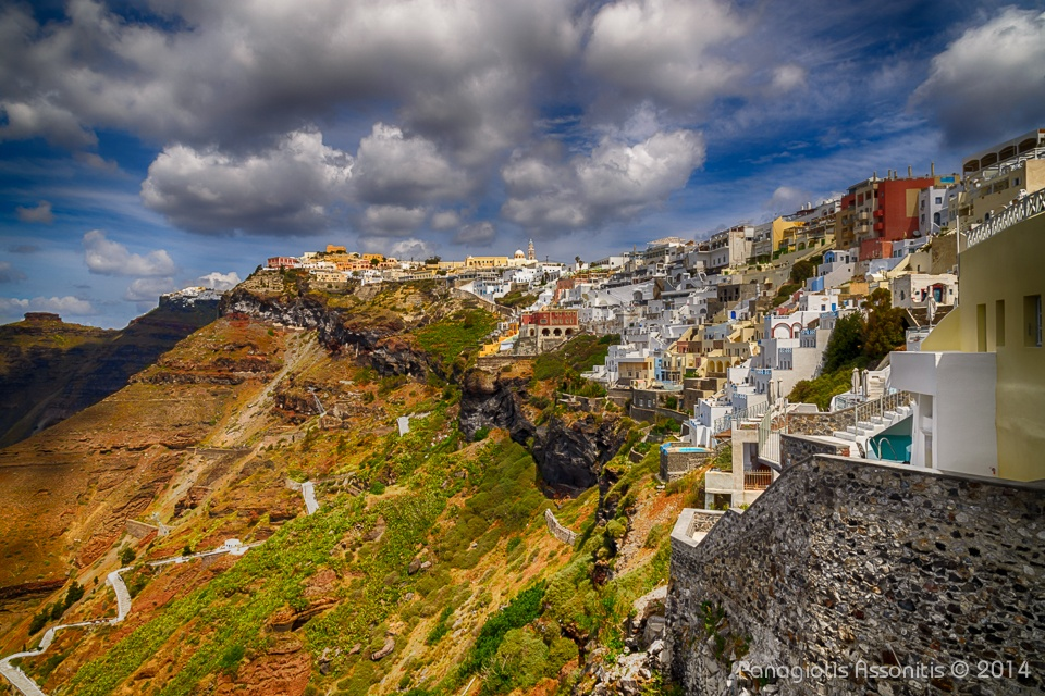 Fira city, Santorini by Panagiotis Assonitis