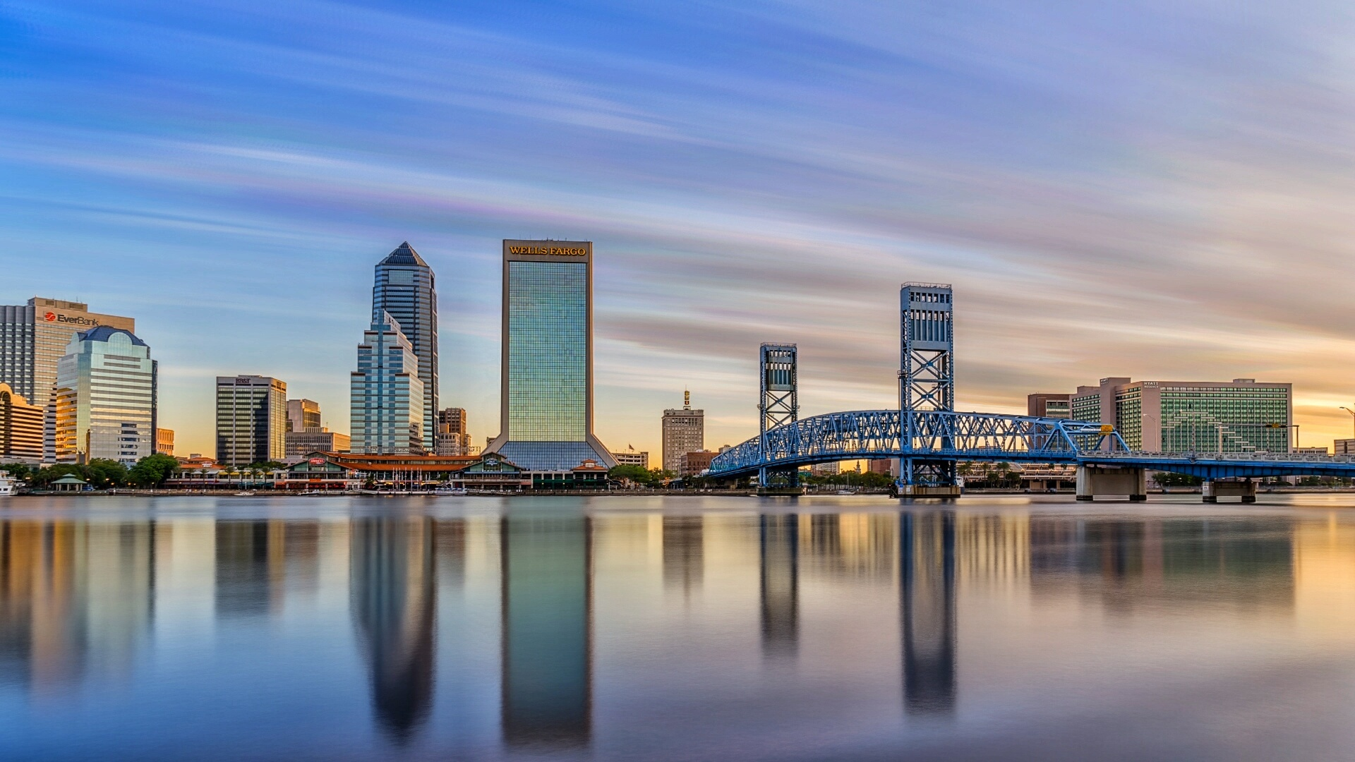 Jacksonville FL Skyline at Sunrise by Zygmunt Spray