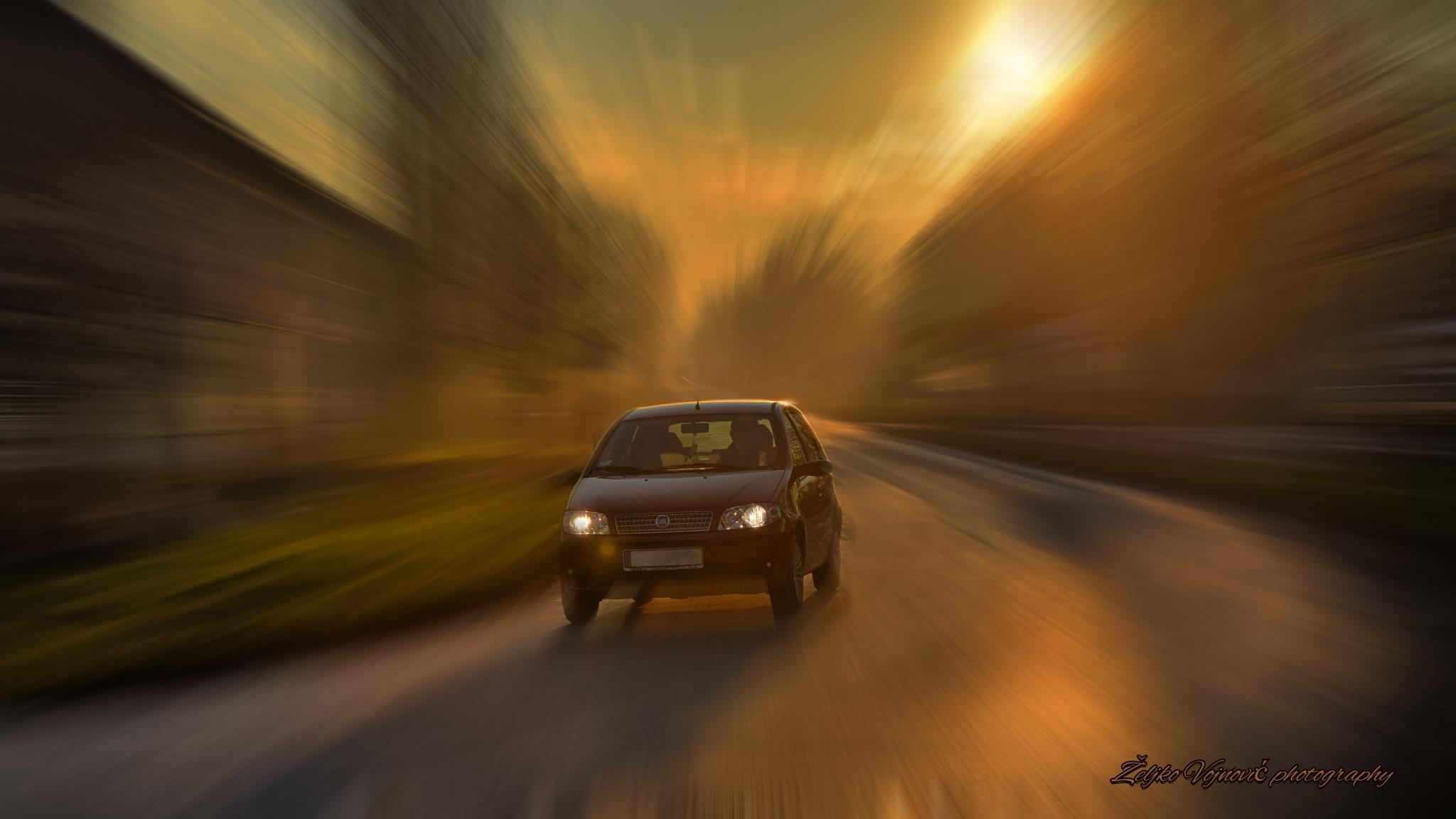 Sunset road II by Željko Vojnović