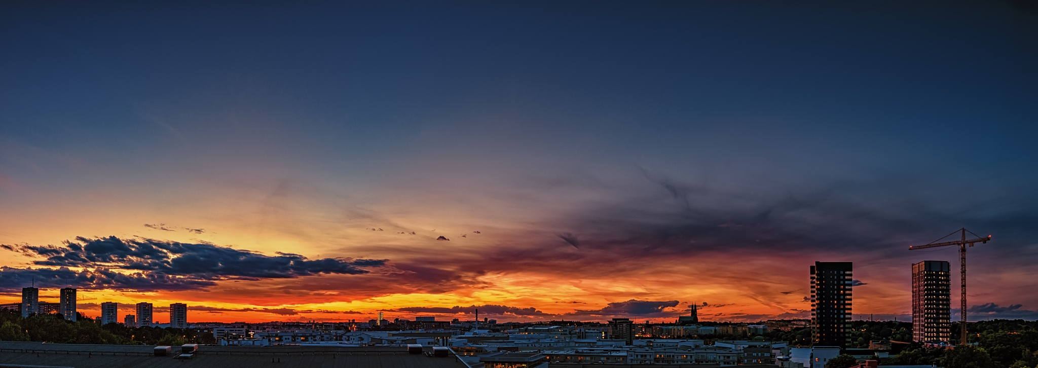 Fire in the sky by Anders Green