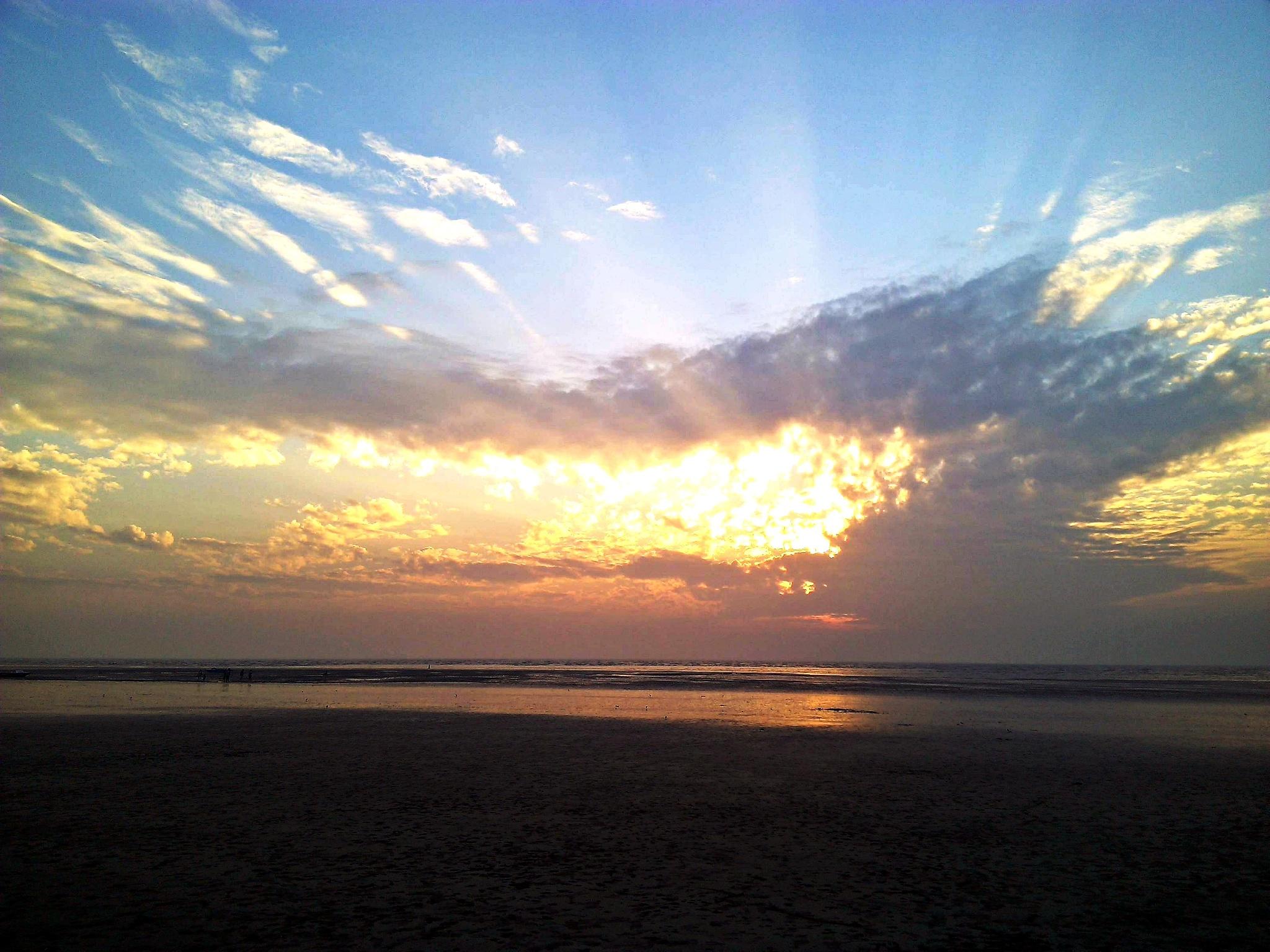 sun set by dilip merchant