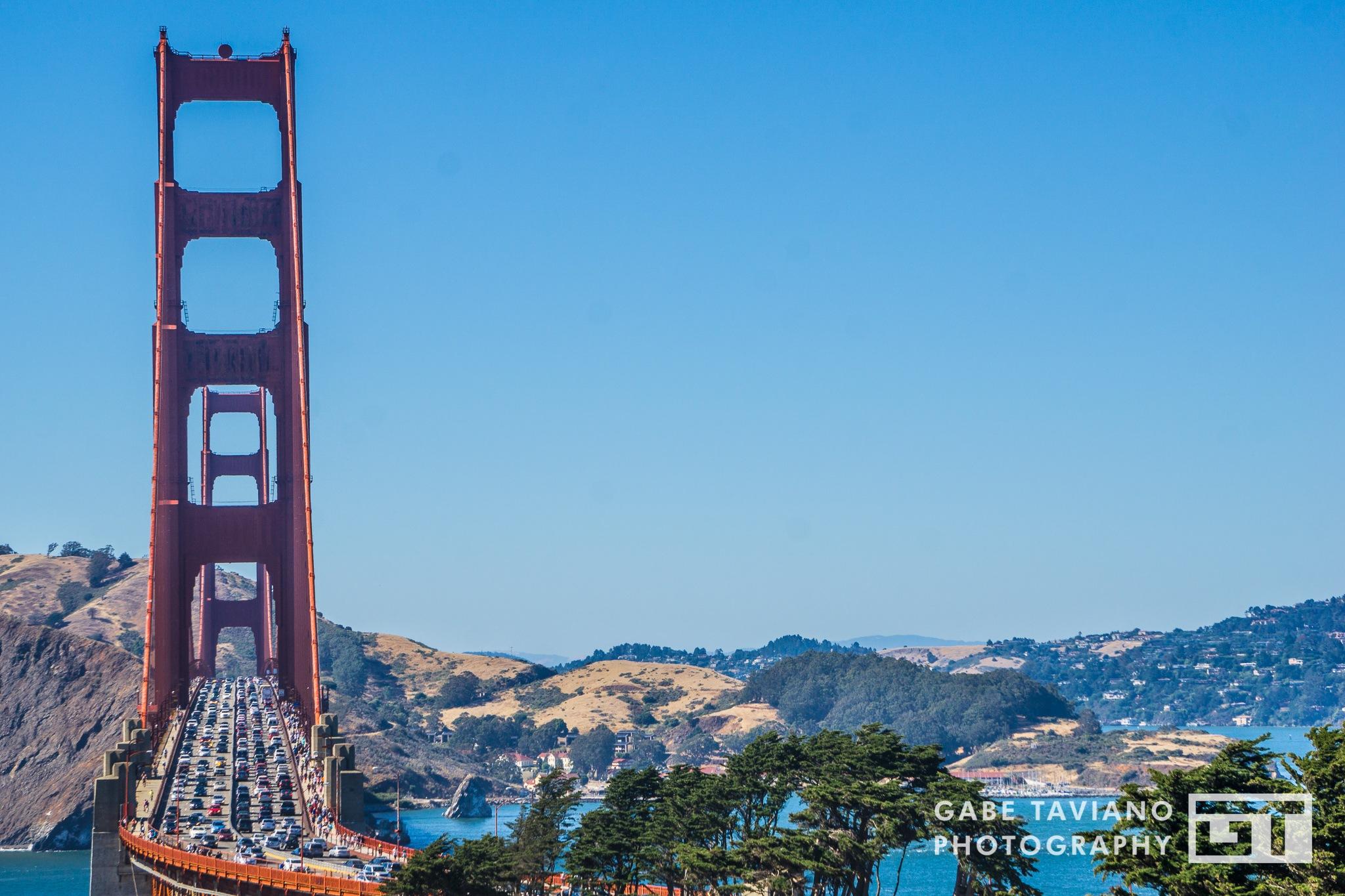 Traffic on the Golden Gate Bridge by Gabe Taviano