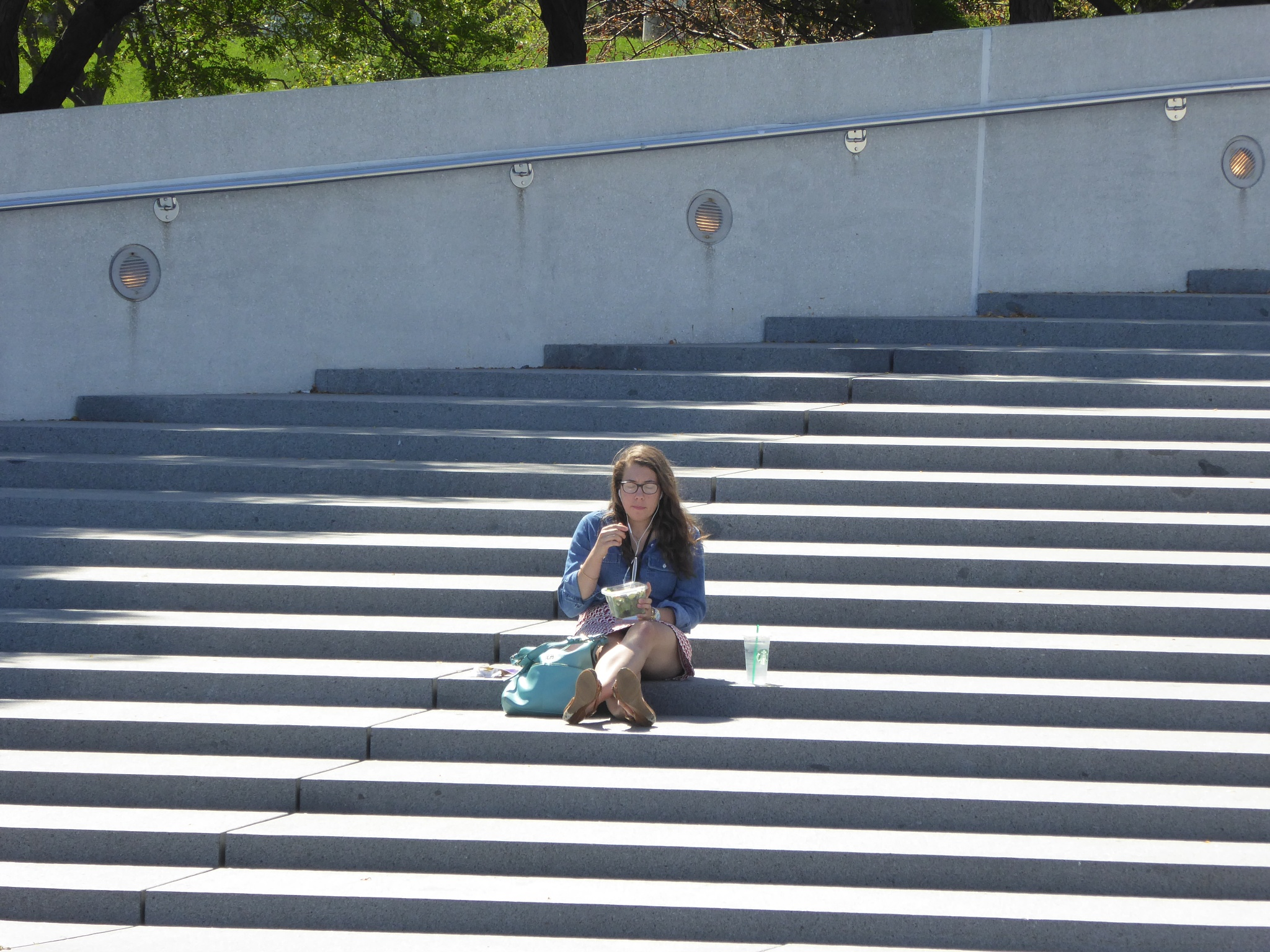 On the steps  by Anita Collins