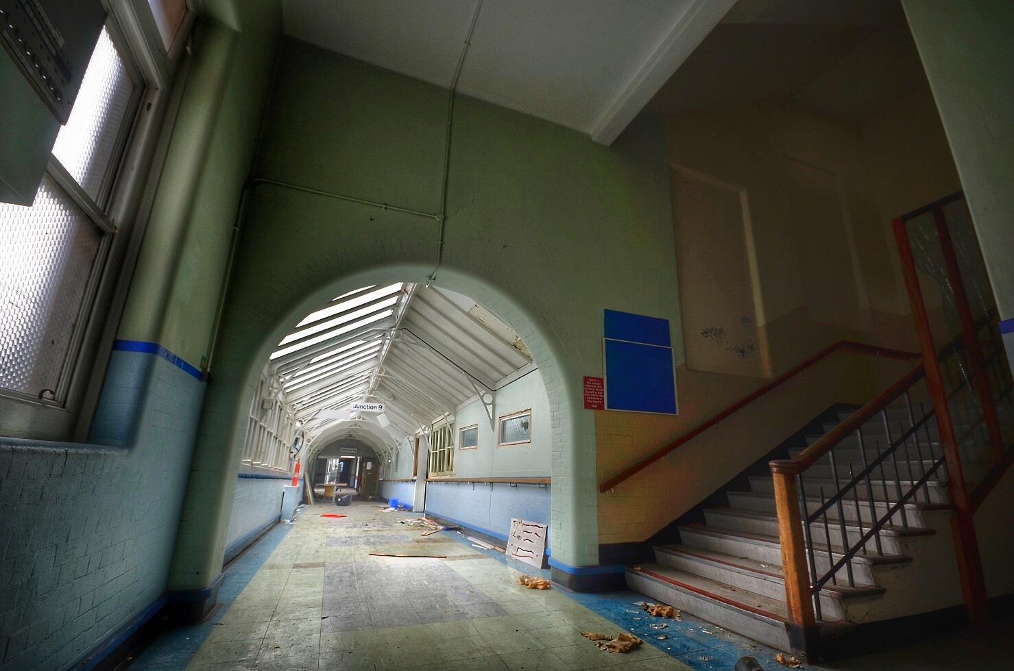 Abandoned Hospital Hallway by TeEnZiE