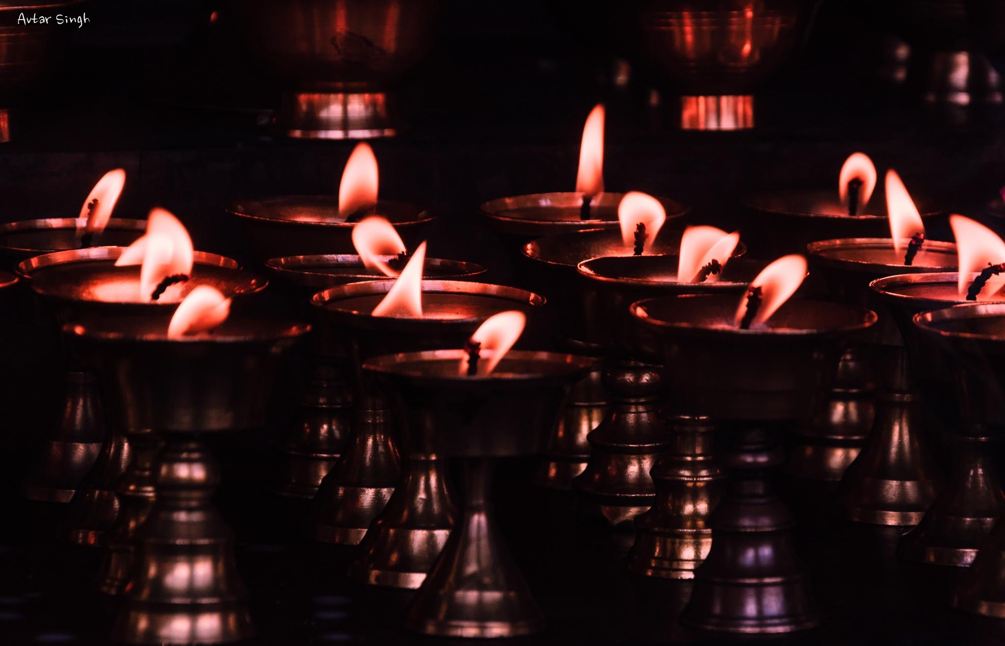 Oil lamps by Avtar Singh