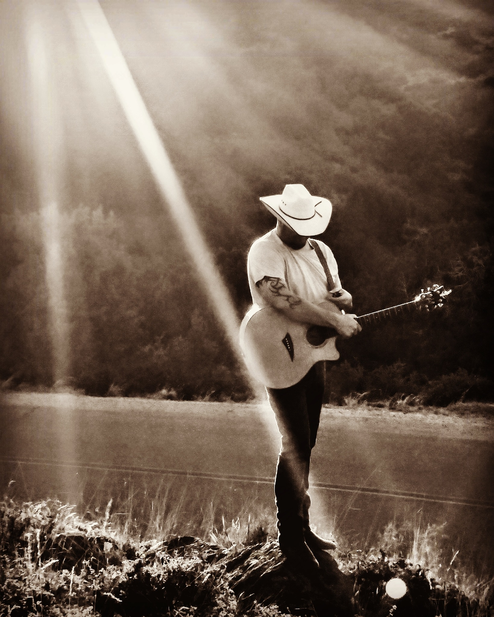 Me and my guitar by Chade Woodard