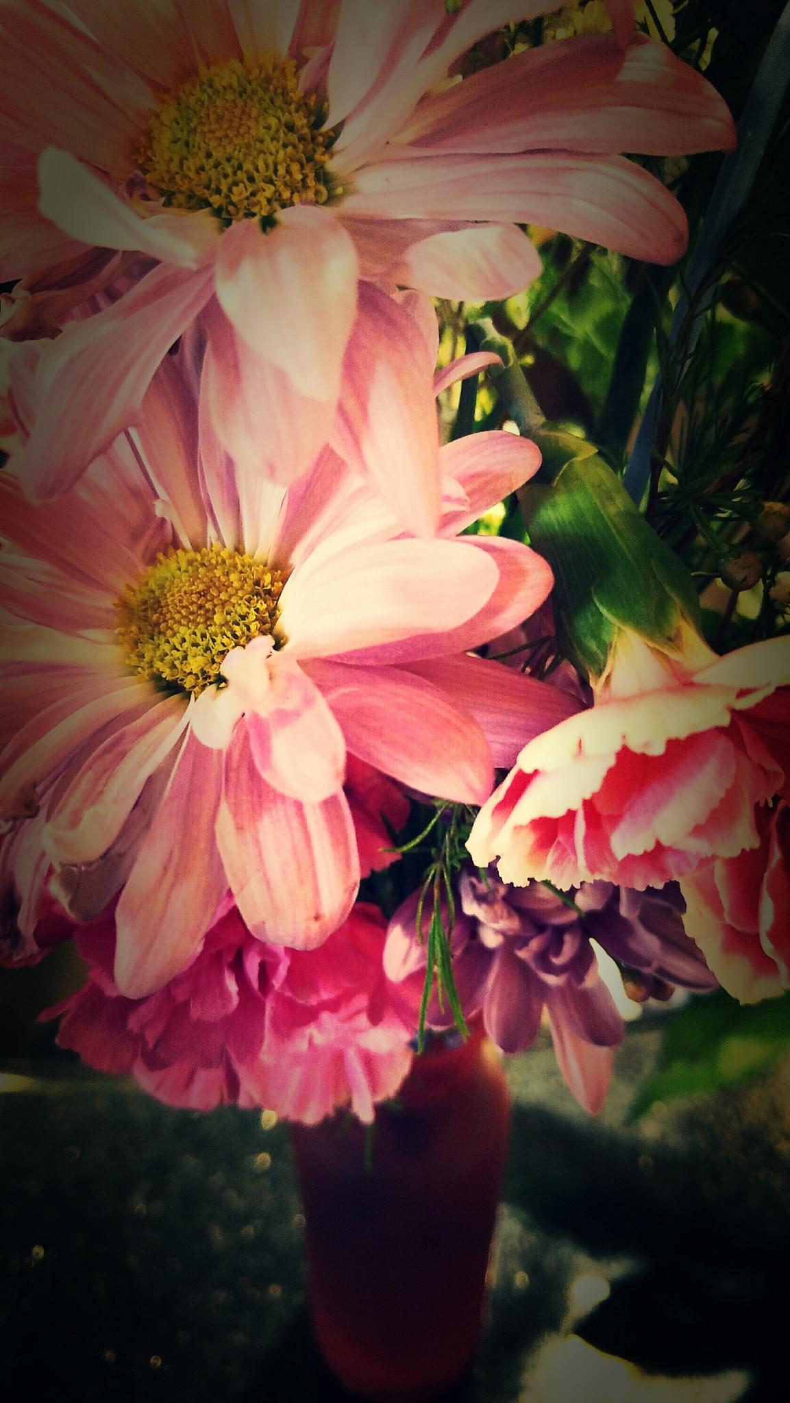 Flowers in vases by Chade Woodard