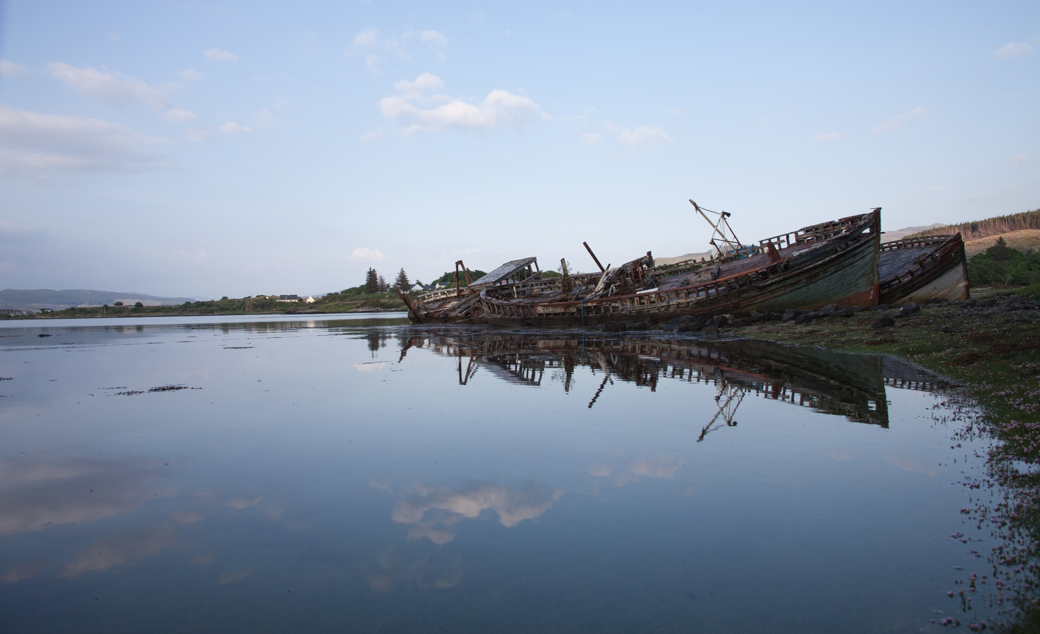 Photo in Landscape #reflection #water #boats