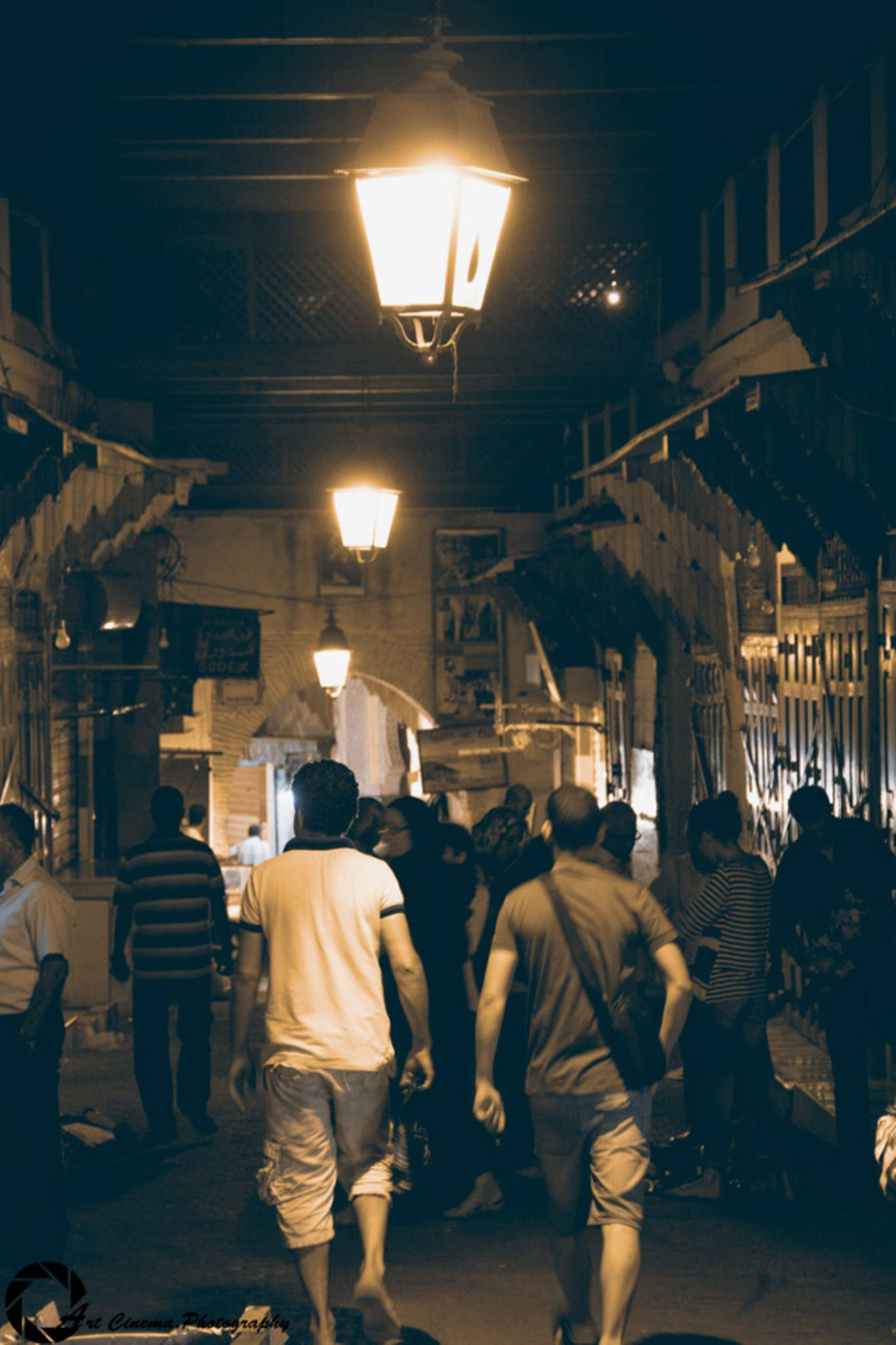Traditional souq at the ancient downtown in fes by Najib Khayati