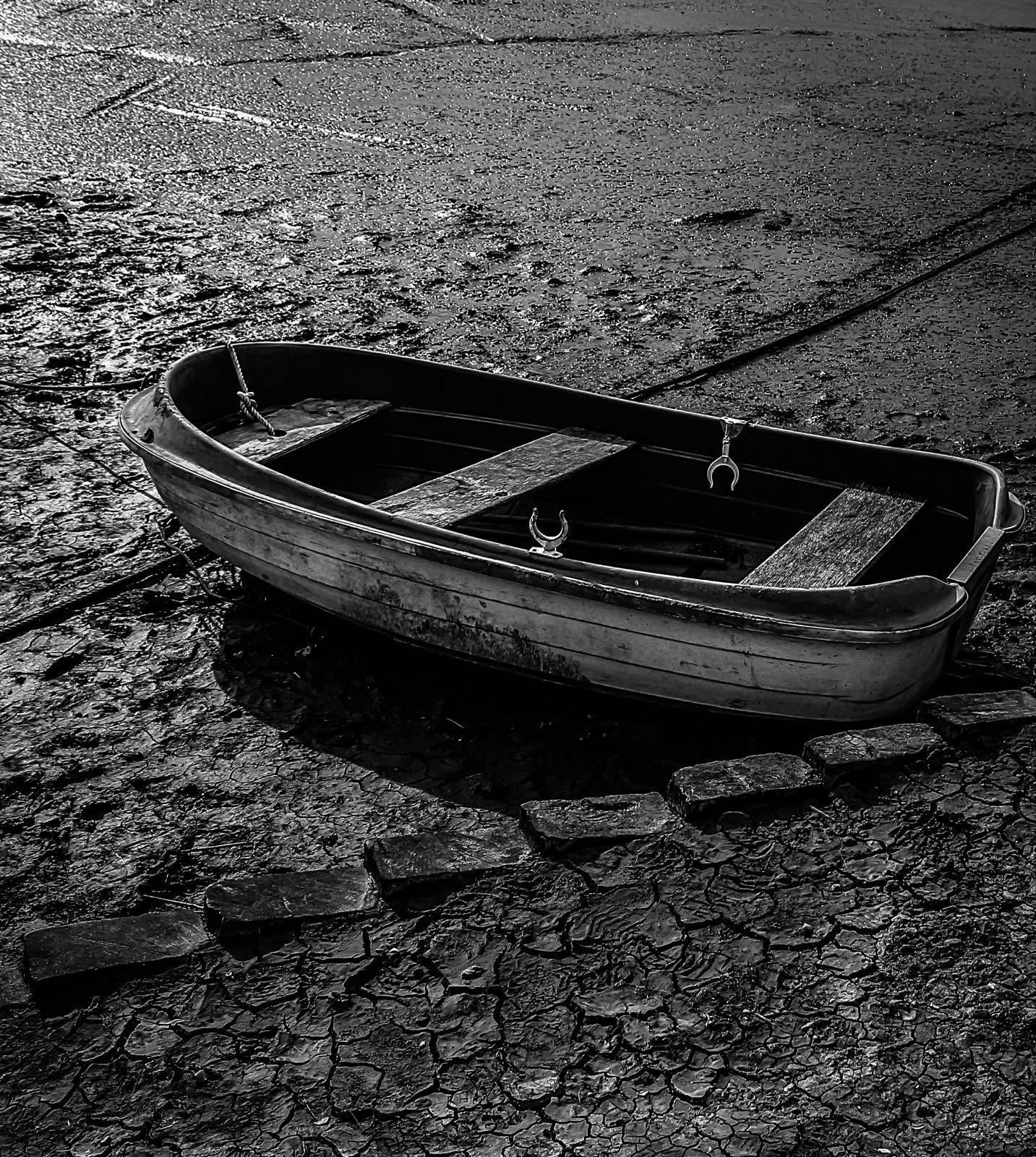 Photo in Black and White #boat #travel #transport #blackandwhite #sharp #clarity #beach #coast