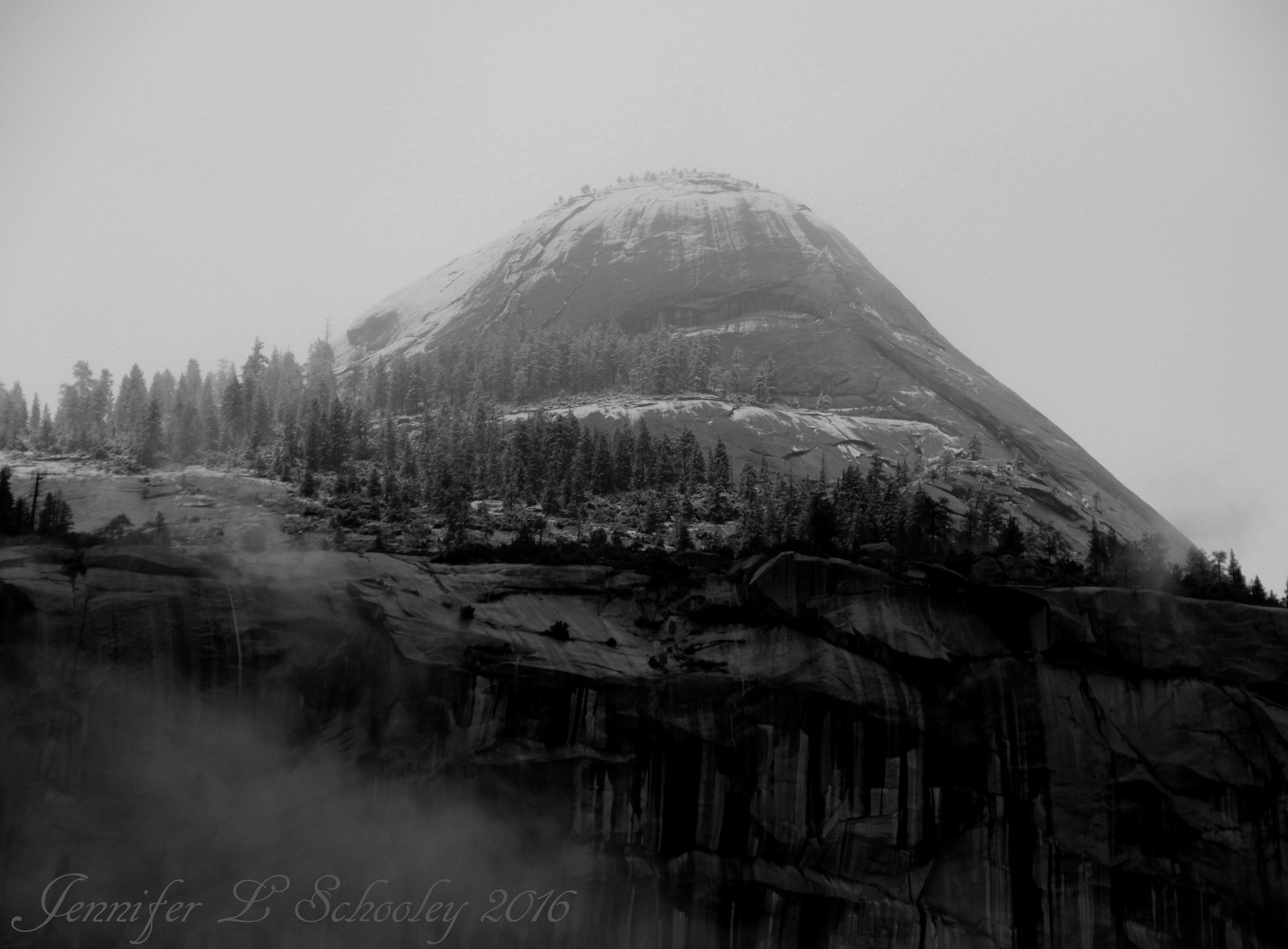 North Dome - Winter Storm - March 2016 by Jennifer Schooley