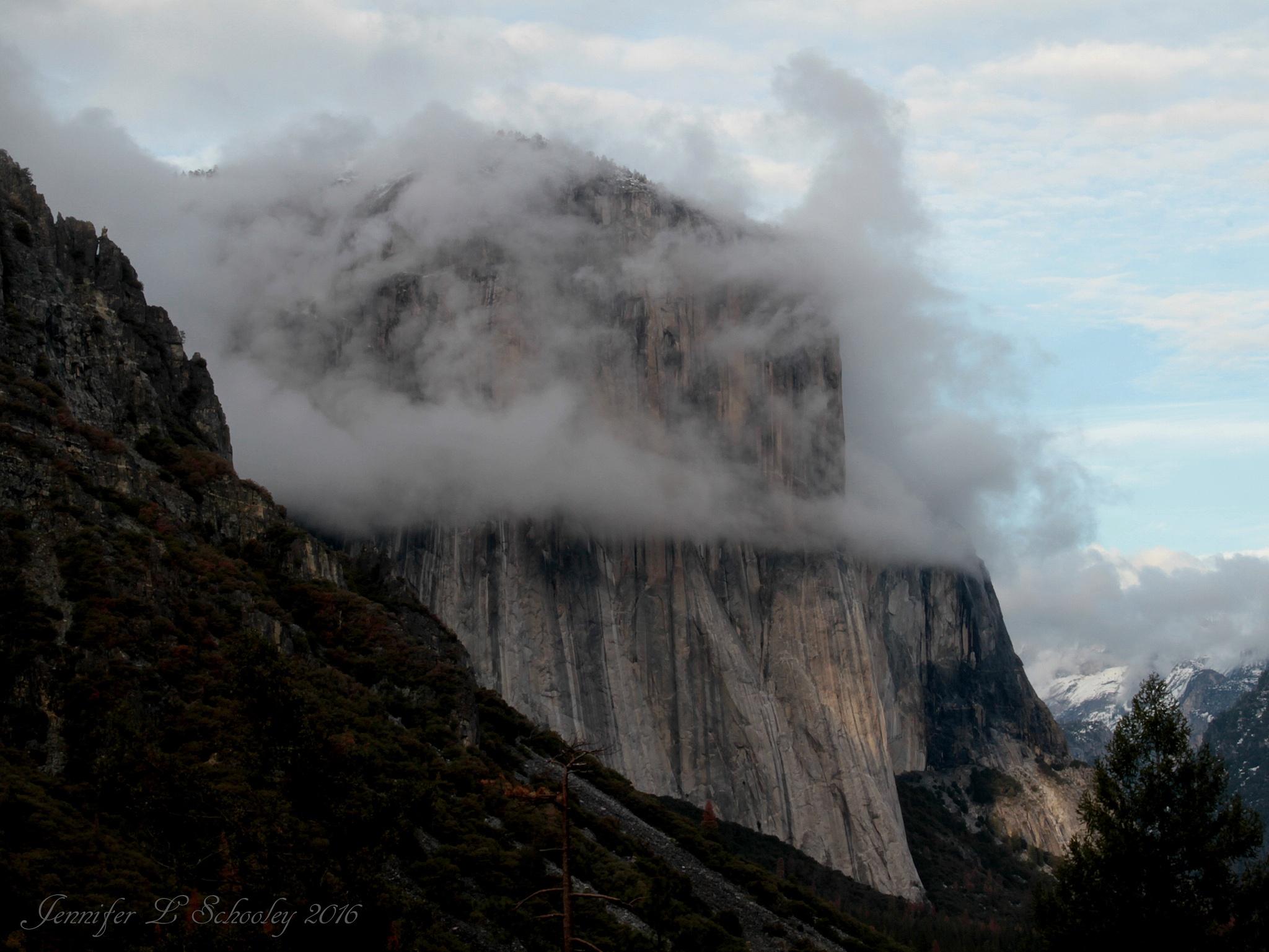 El Capitan - March 2016 - Incoming Storm by Jennifer Schooley