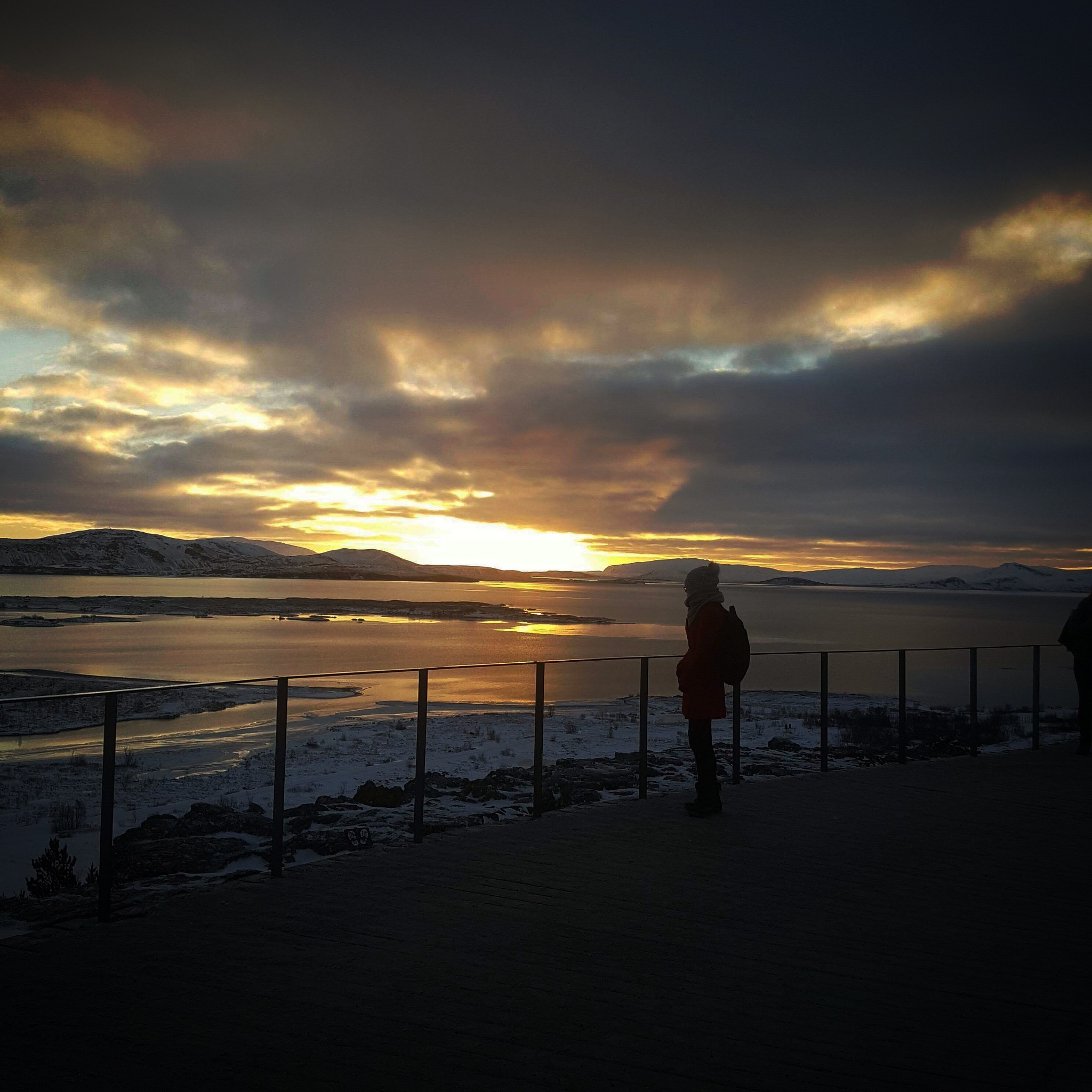 Silhouette in Iceland  by Lsb23