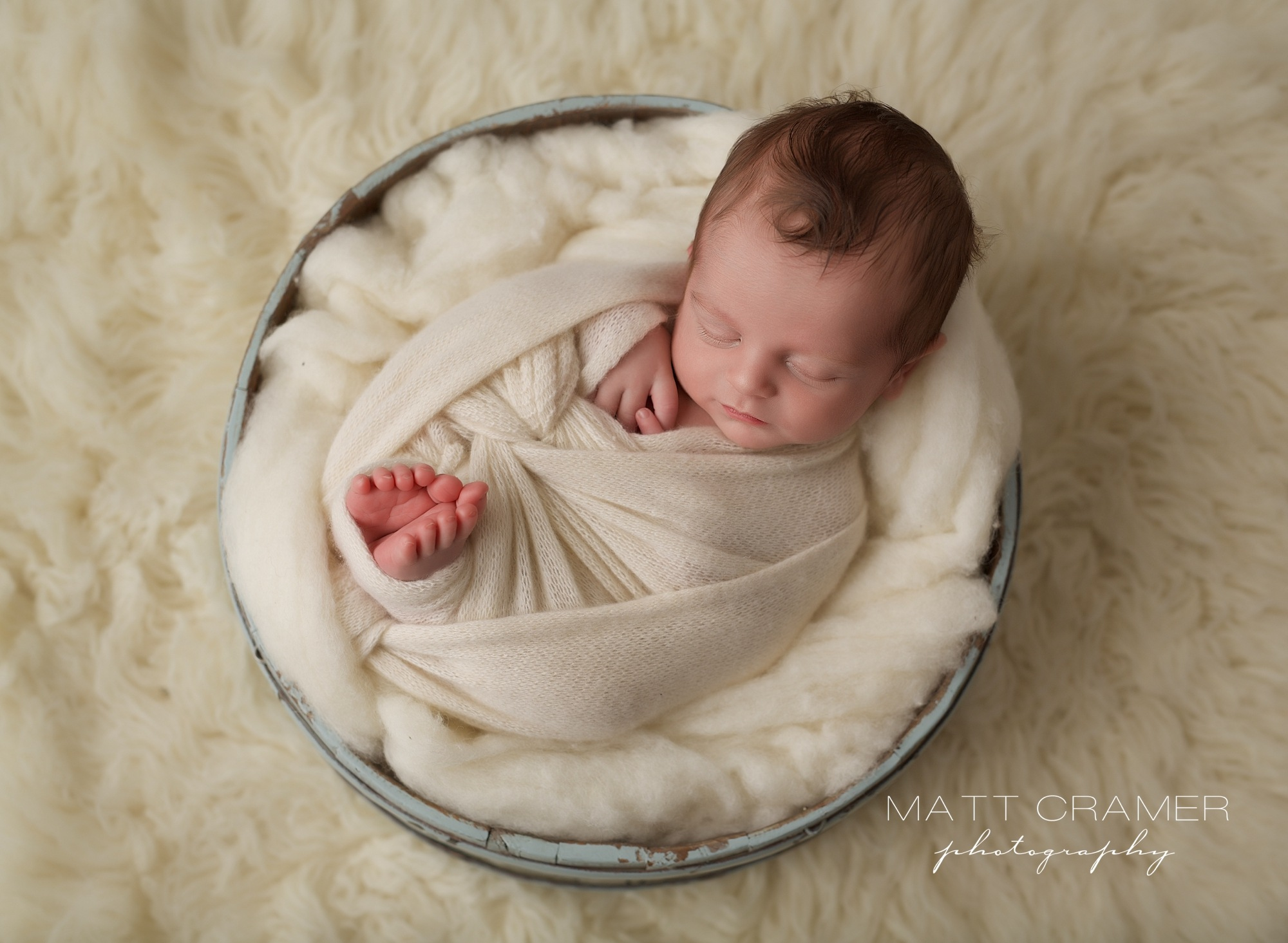Cowlick by Los Angeles Newborn Photography | Matt Cramer Photography