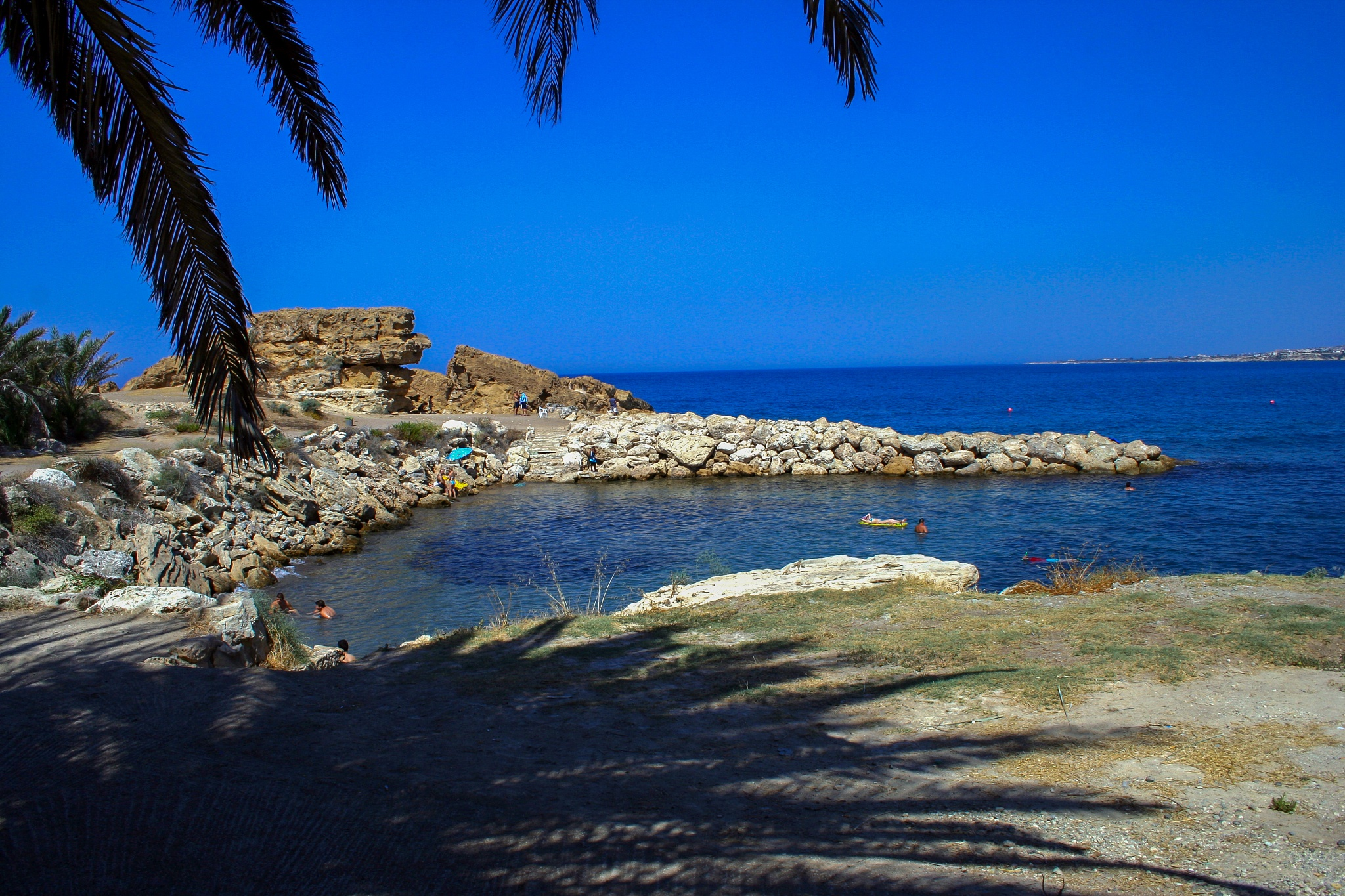 From the shade, Queens Bay, Pathos, Cyprus by Jeremy Tilston