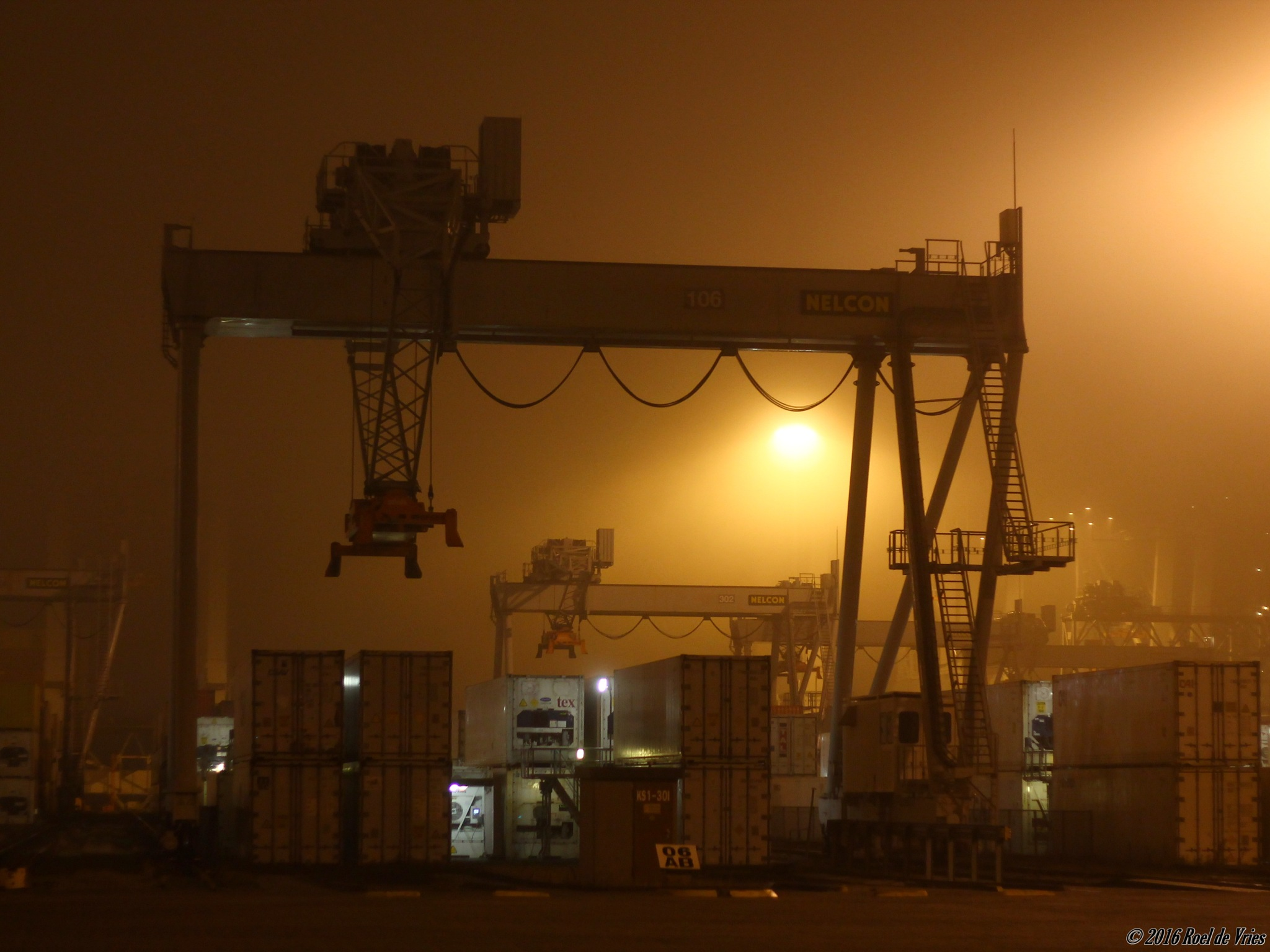 Port in the Fog by Roel de Vries