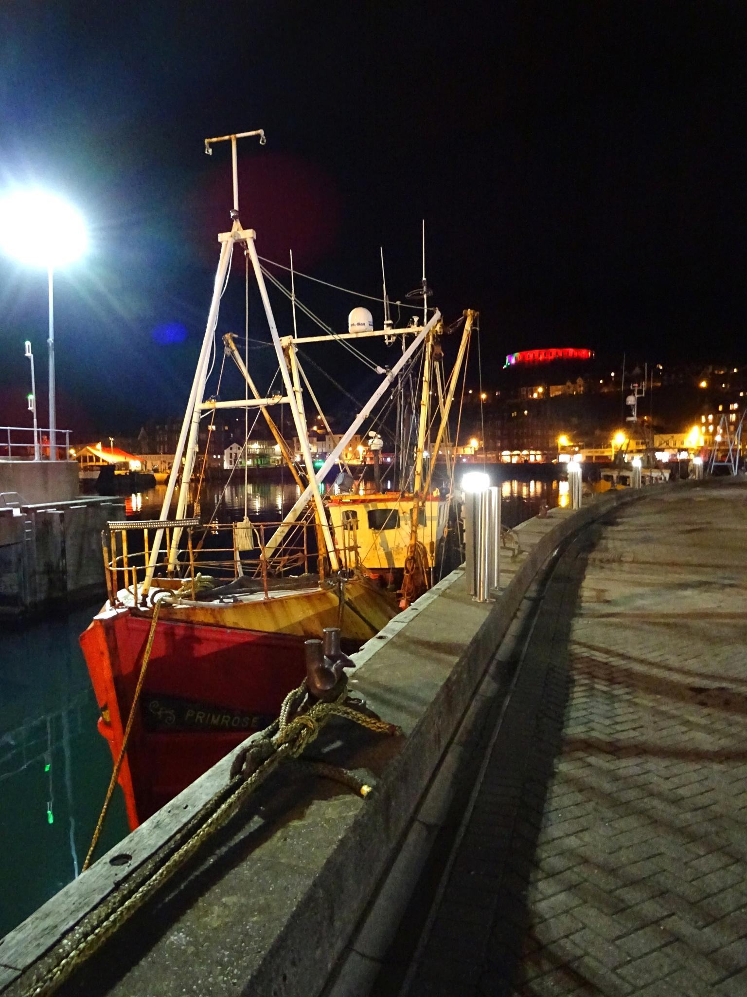 Night Harbour at Oban, Scotland by kayThornton