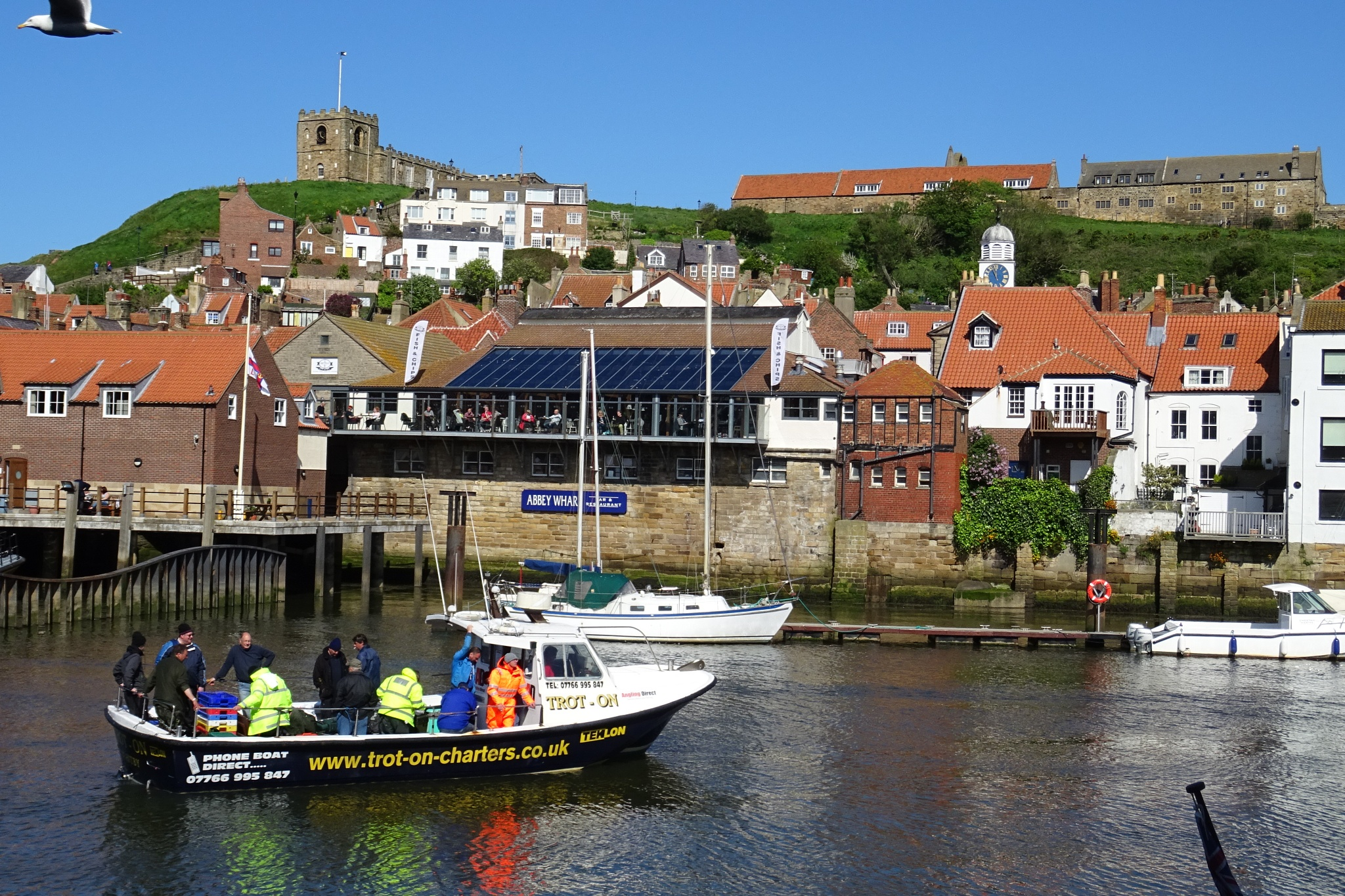 Whitby from the Harbour by kayThornton