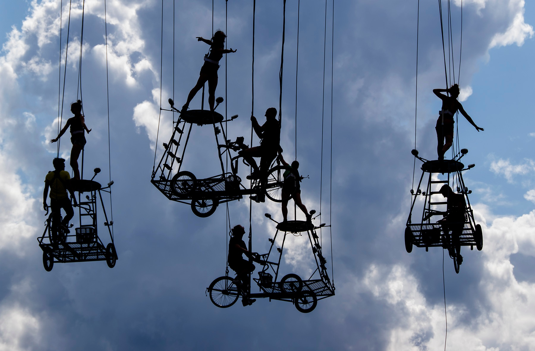 Flying Bicycles  by Ian M