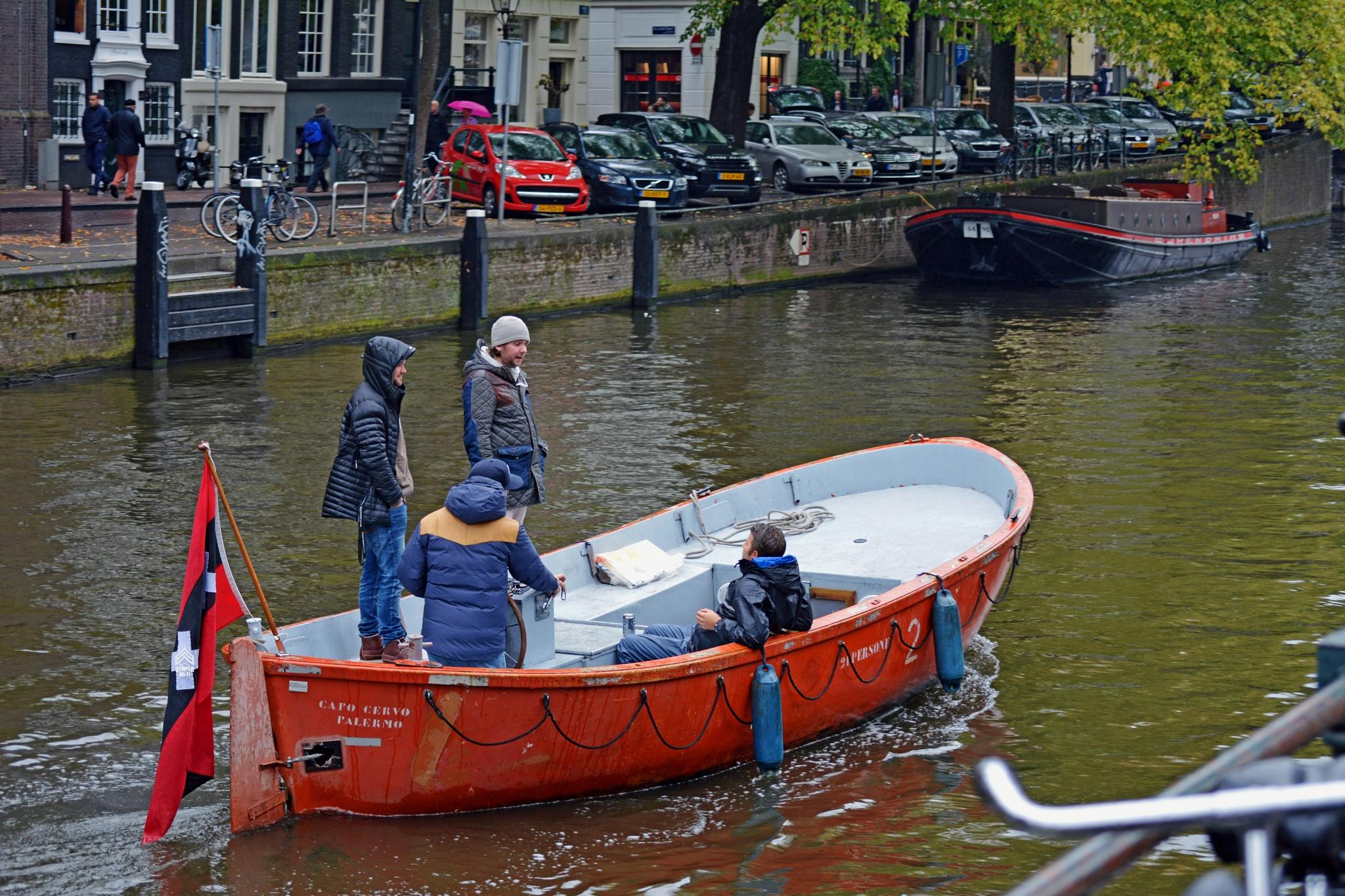 Colorful Boat Ride in Amsterdam by semperwifi