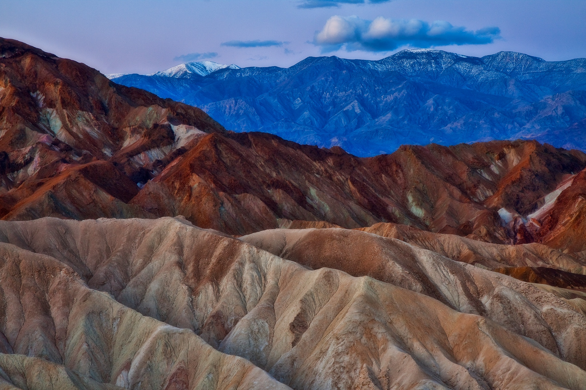 Zabriskie Point - Death Valley  by Stevens Ross