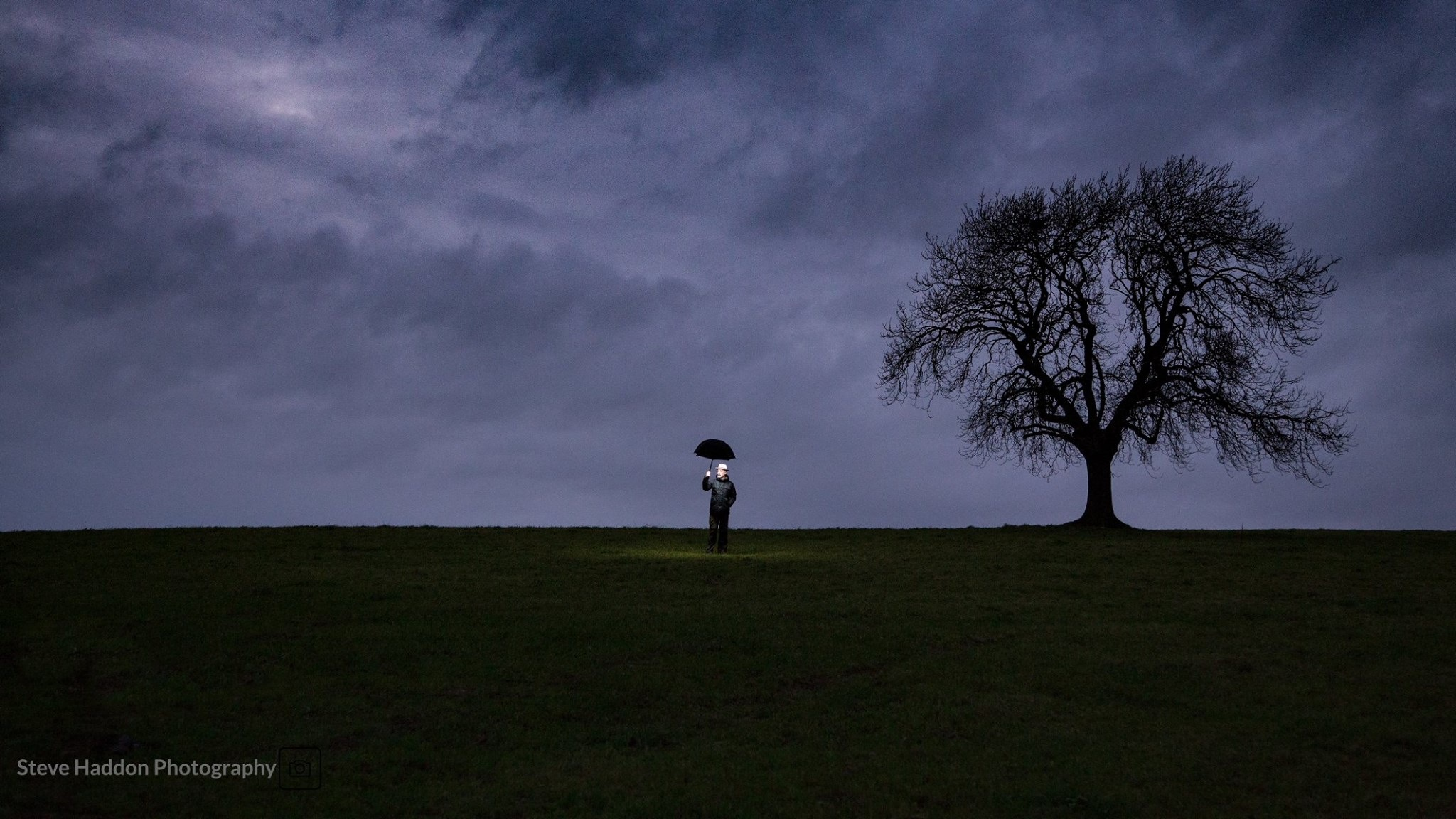 Lonely tree, alone man by Steve H