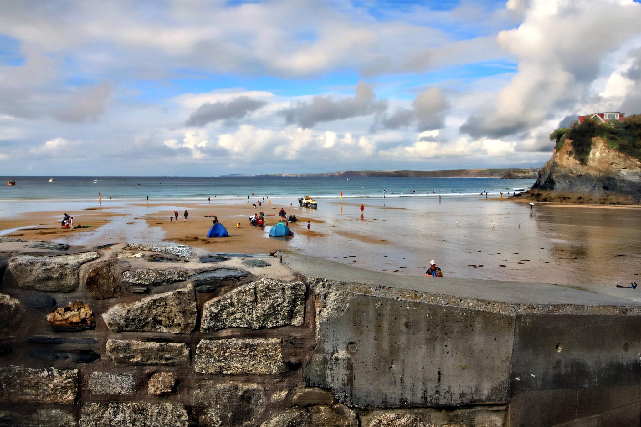 Towan beach,Newquay,Cornwall. by Paul Gast