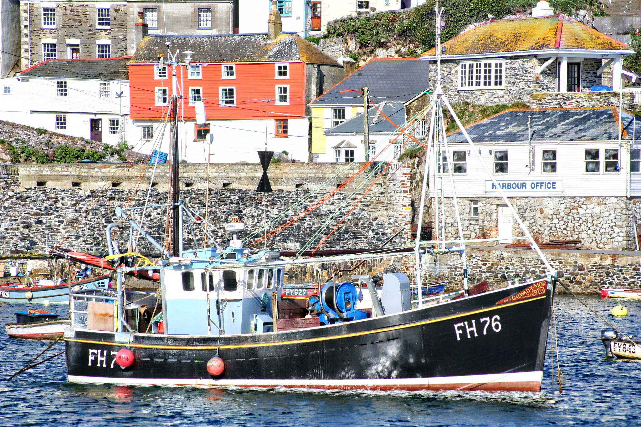 fishing boat at mevagissey by Paul Gast