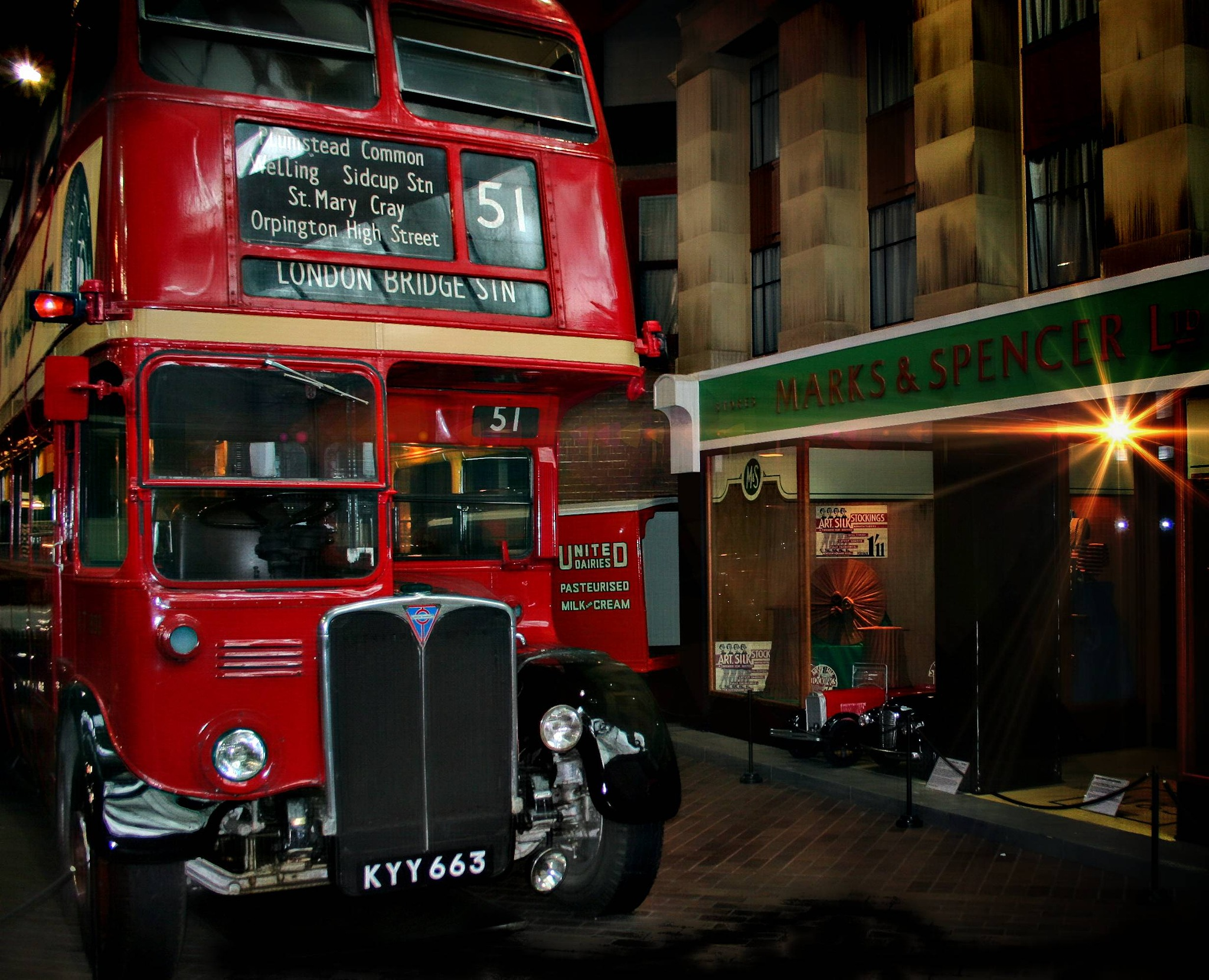 classic london bus by Paul Gast