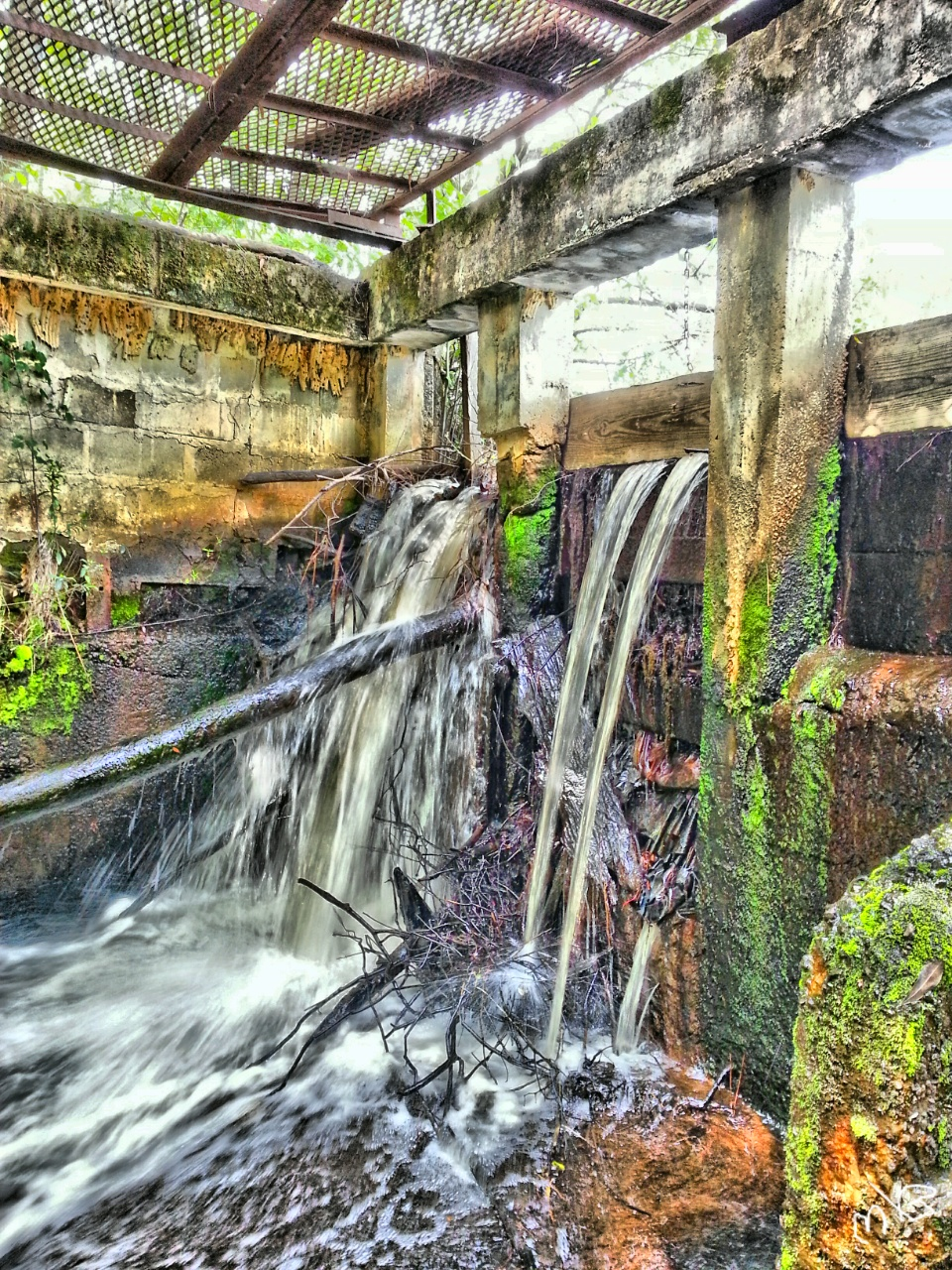 Old Spillway dam on the Ohoopee River by innovision237