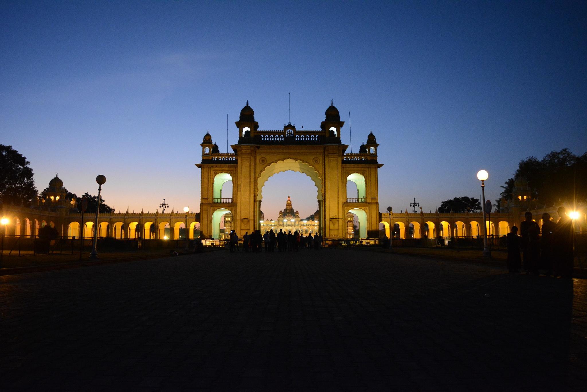 Photo in Architecture #mysore #palace #lighting #grandeaur