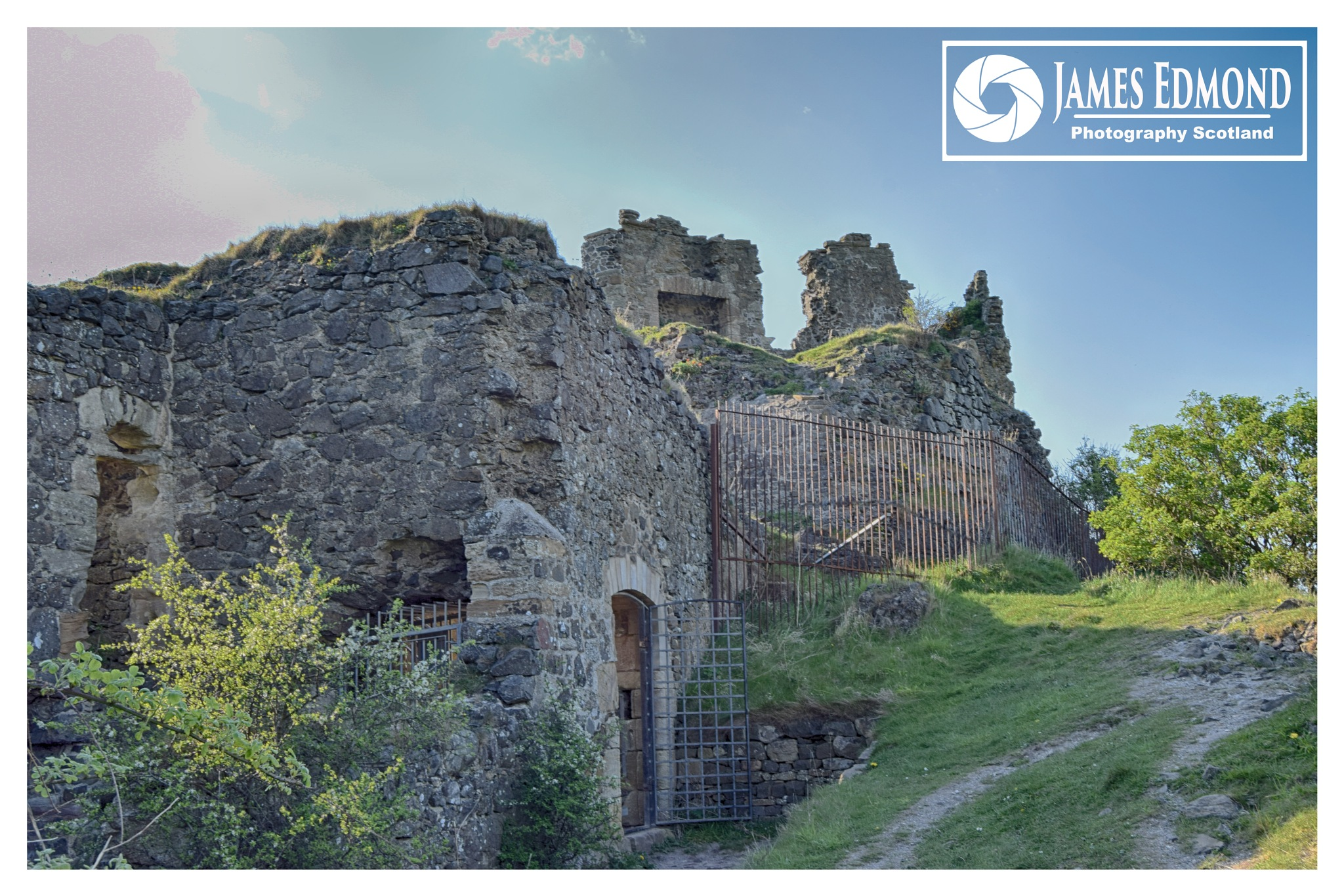 Castle Ruins in Ayrshire Scotland by James Edmond Photography