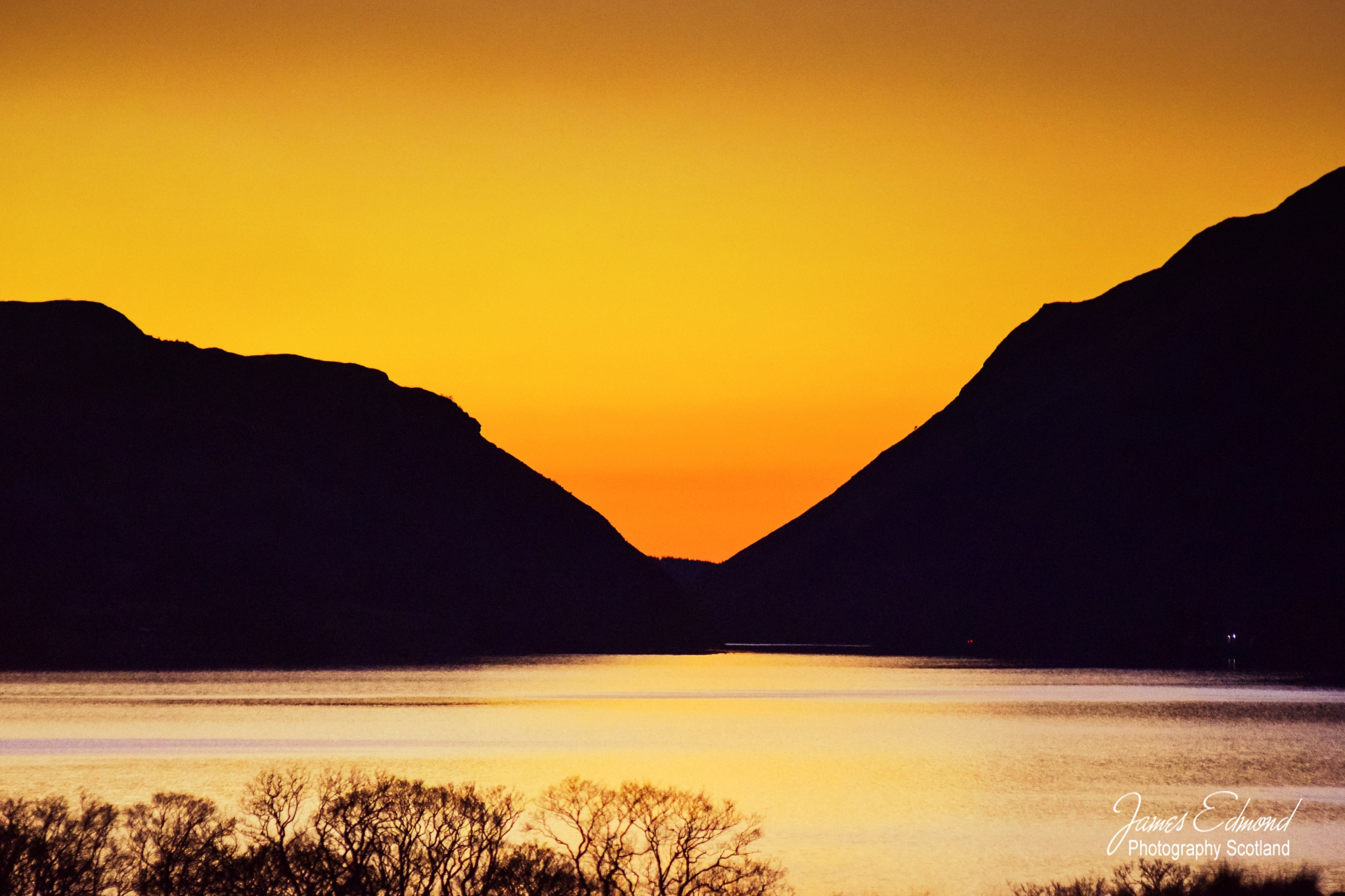 Sunset, Water and Mountains by James Edmond Photography