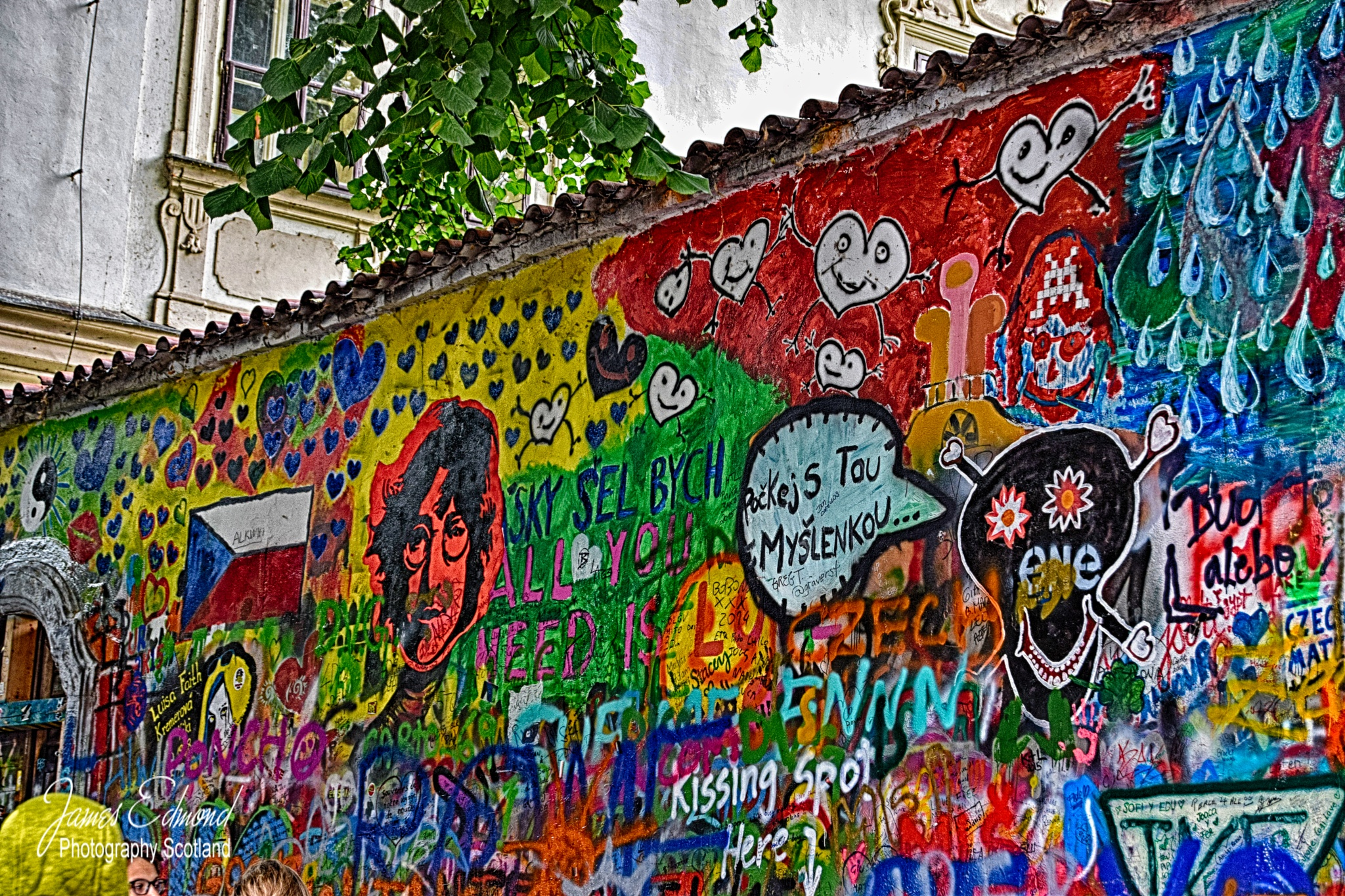 John Lennon Wall, Prague, Czech Republic by James Edmond Photography