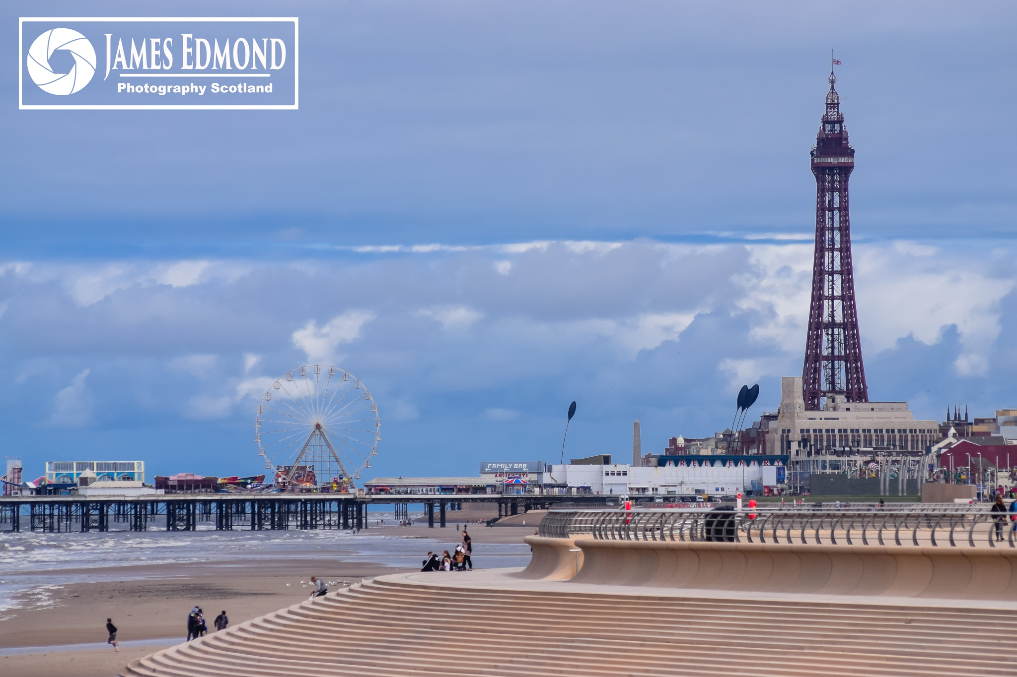 Blackpool in the sunshine by James Edmond Photography