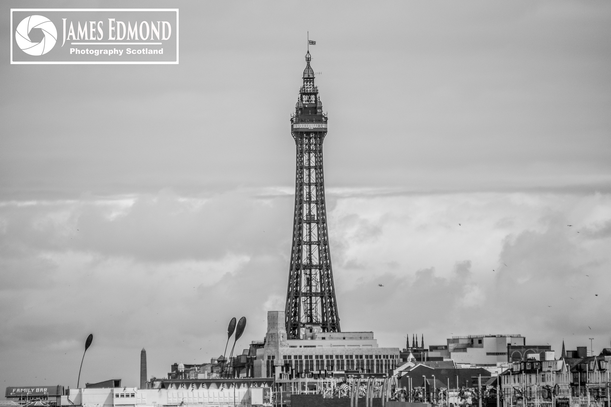Blackpool in Monochrome by James Edmond Photography