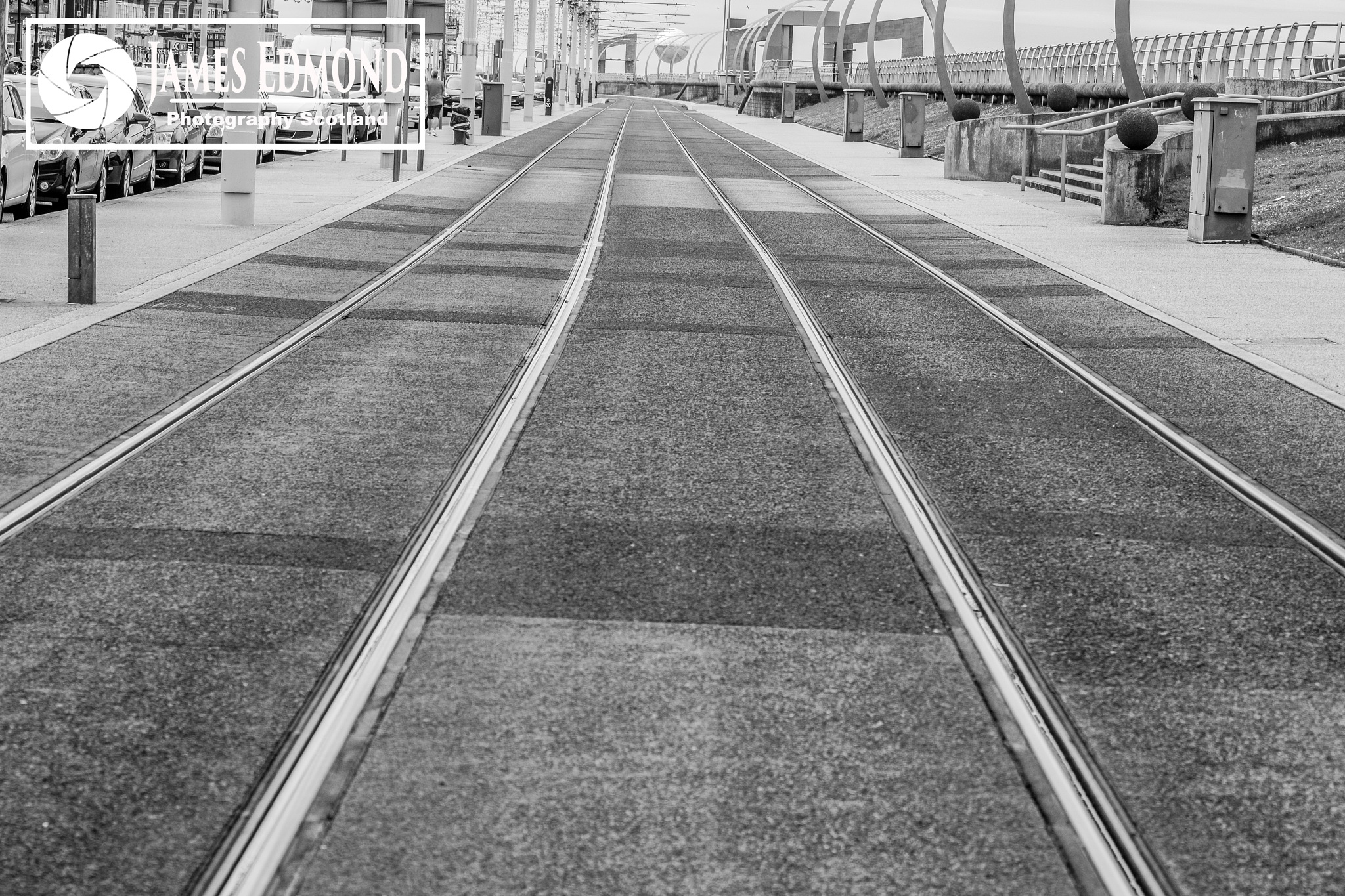 Tram lines in Monochrome by James Edmond Photography