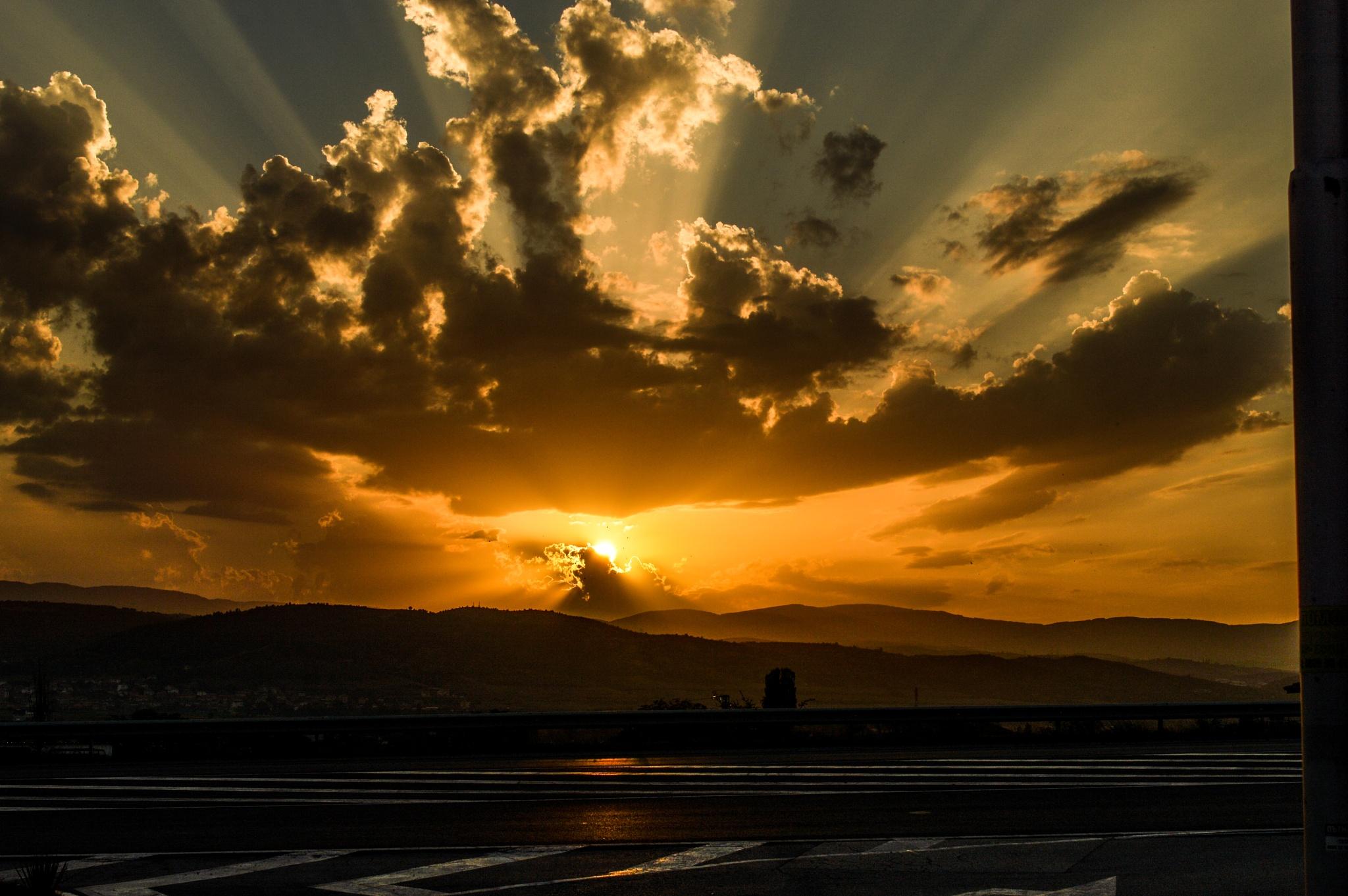 sunset by Rotaru Dan