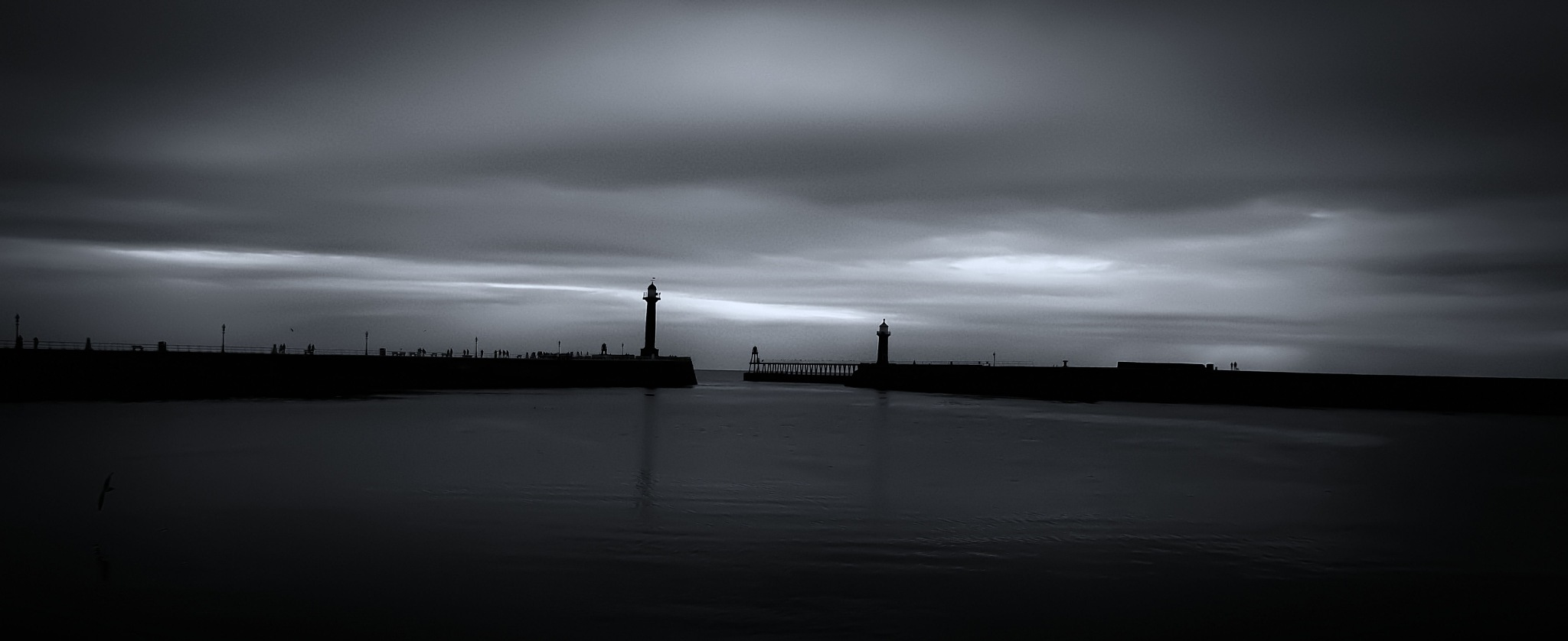 People on the pier by mark fisher