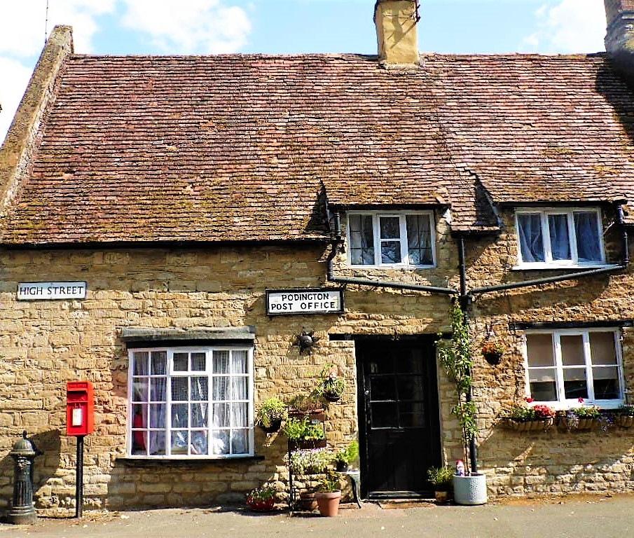 Lovely Poddington Post Office by Sandra Wright