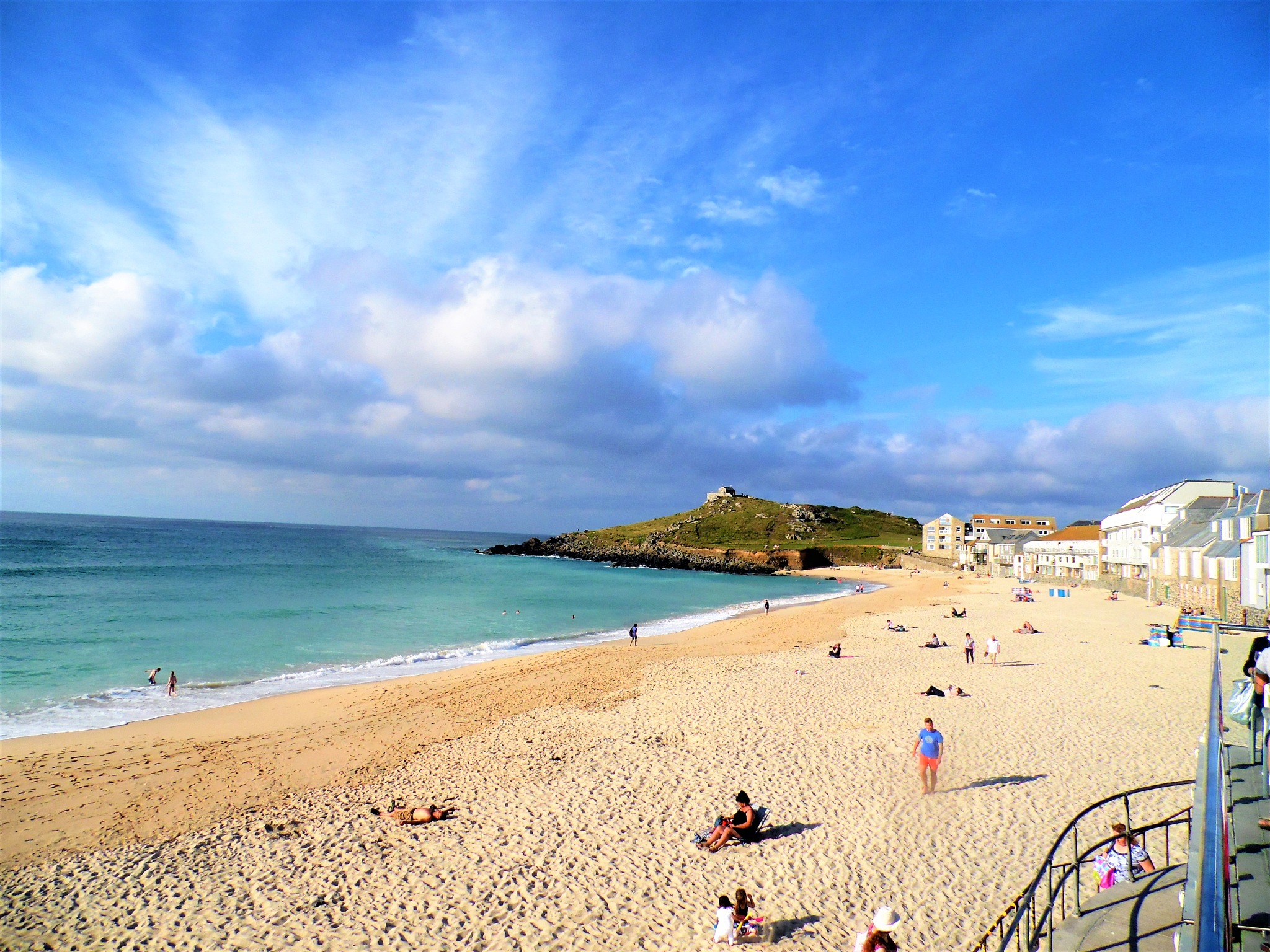 Porthmeor Beach, St Ives, Cornwall. by Sandra Wright