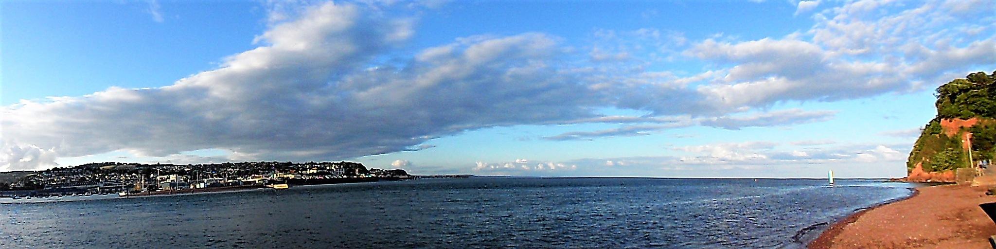 Panoramic view of Teign Estuary by Sandra Wright