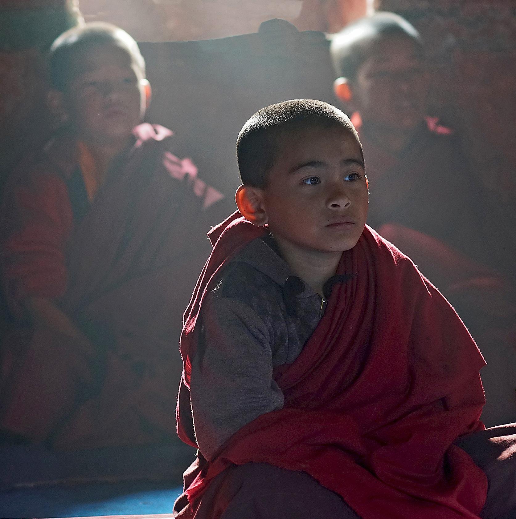 a young sikkimese monk .... by RenéBaldinger