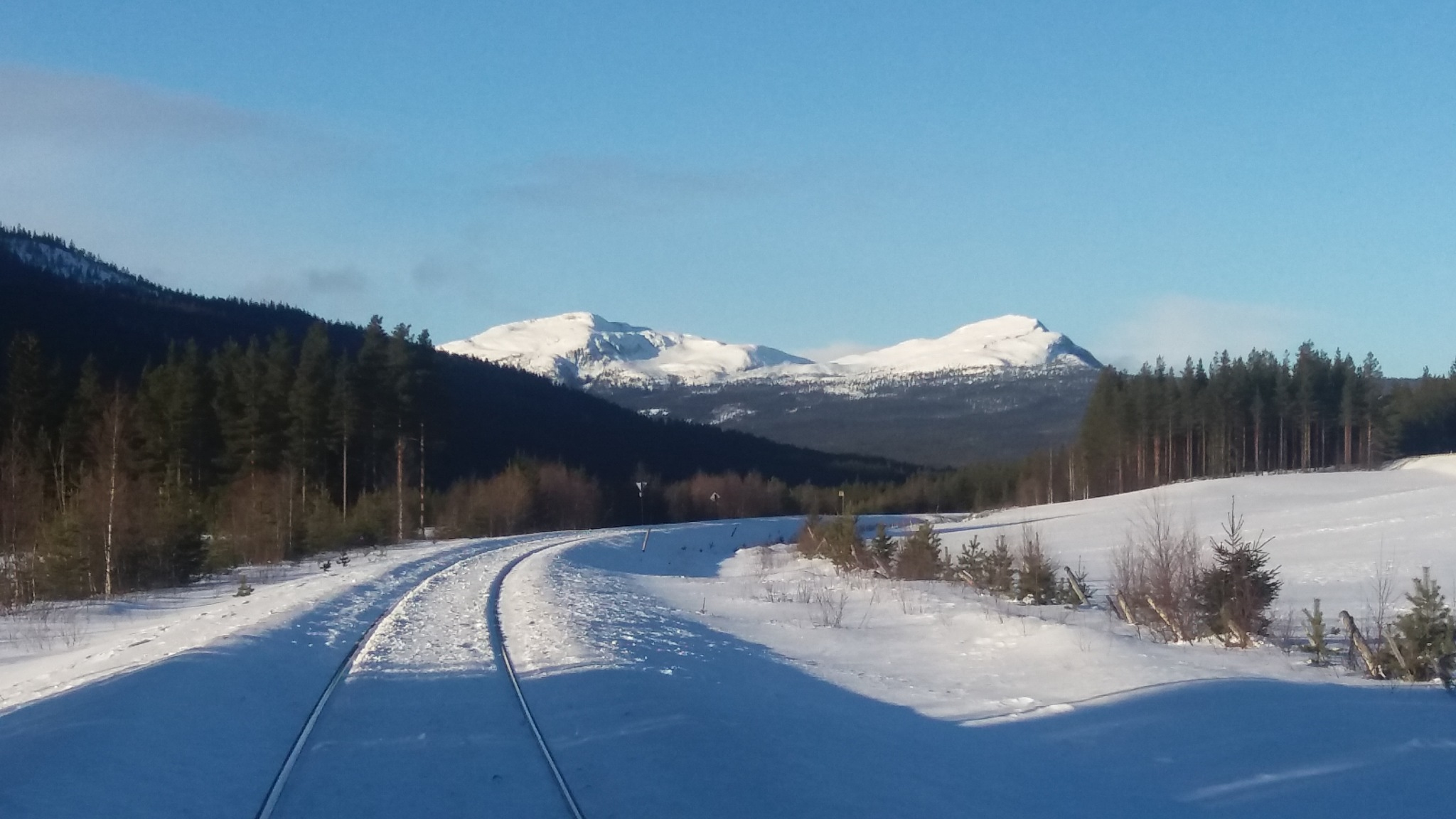 Winter landscape in Norway by Trude