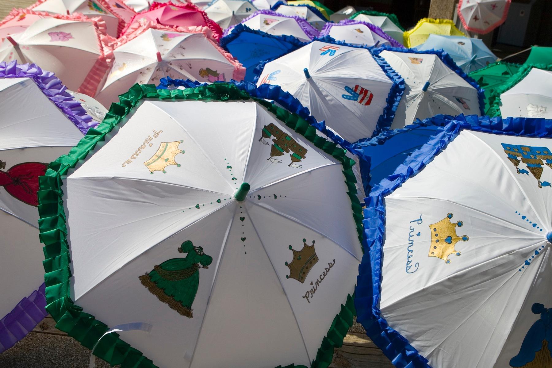 umbrellas on many colors by Bernard Mordorski